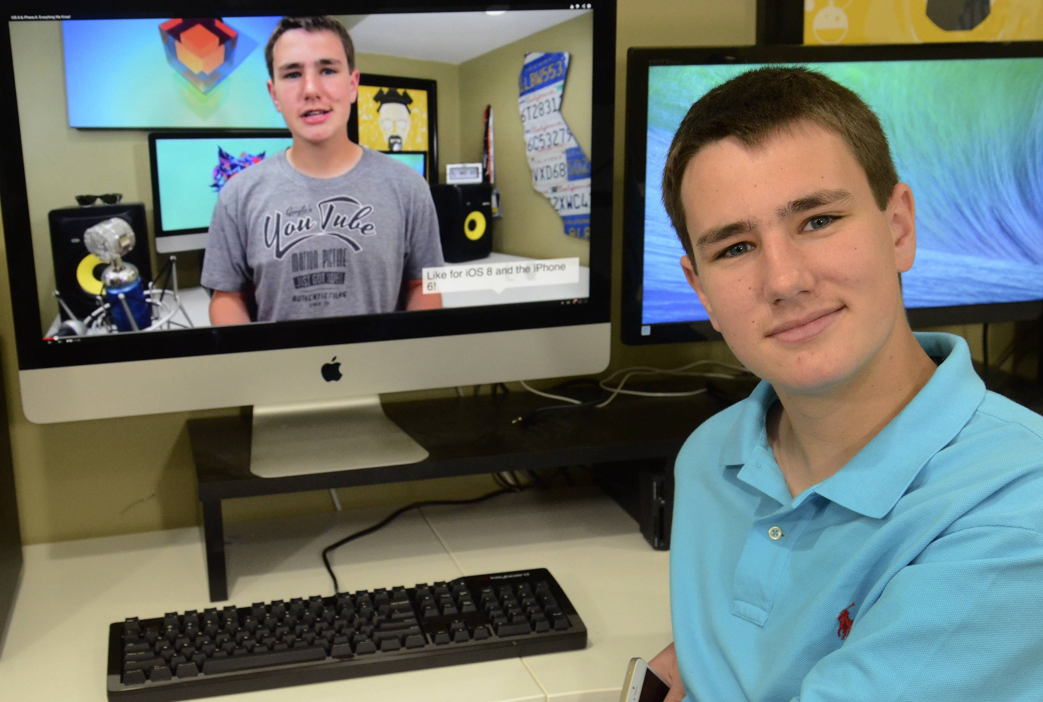 Keaton Keller, 17, says his business, TechSmartt, has never been a chore. The company provides reviews on YouTube of dozens of consumer electronics, from phones and tablets to cameras.