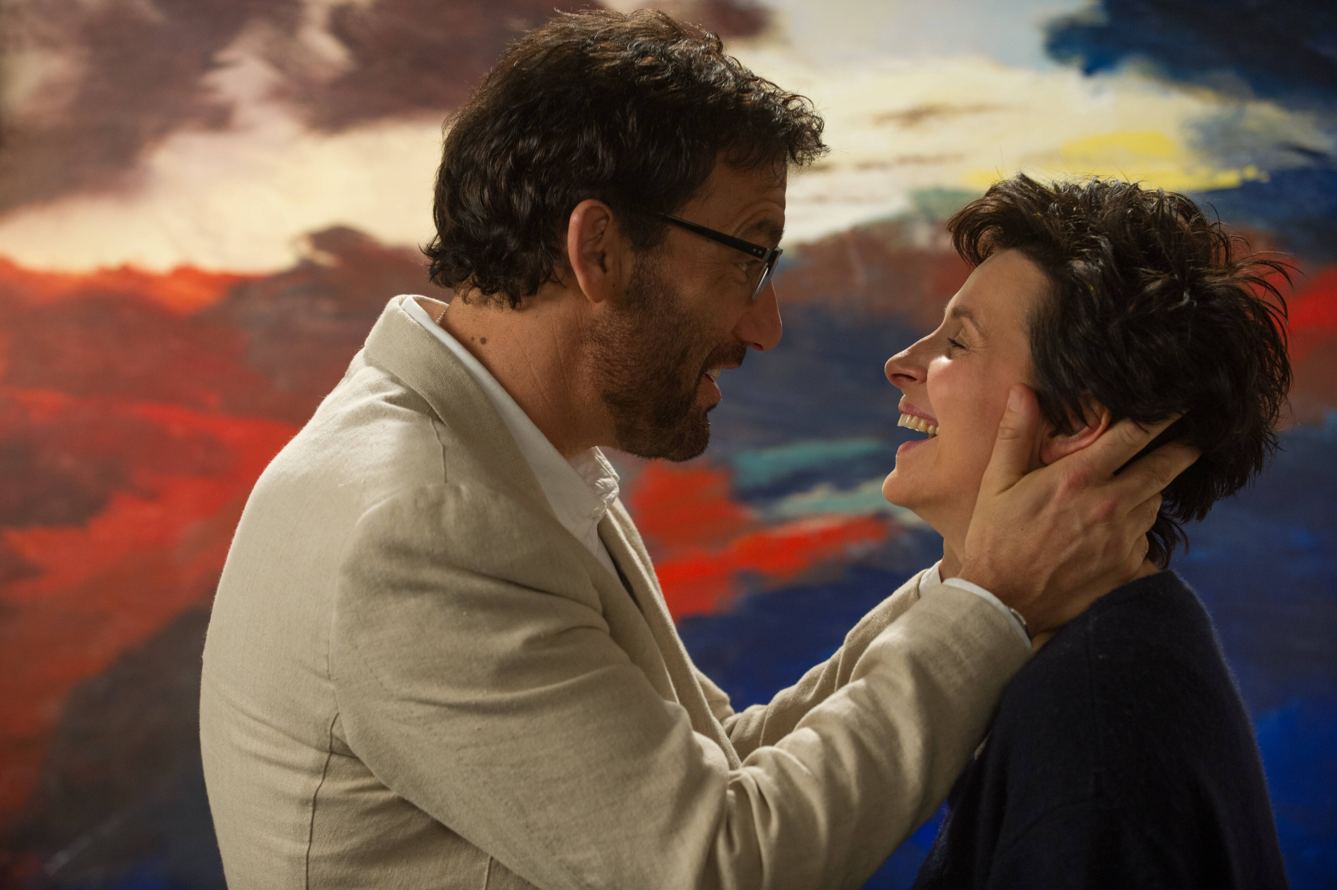 "Jack (Clive Owen) and Dina (Juliette Binoche) clash before coming together in the witty rom-com ""Words and Pictures."""