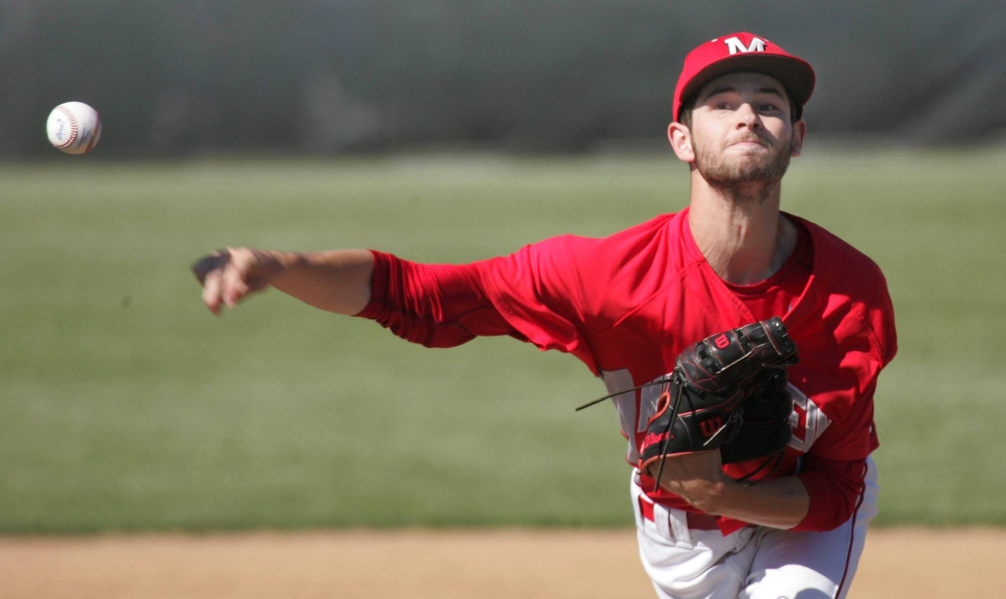 Mundelein pitcher Adam Turner delivers during the Class 4A baseball sectional semifinal Thursday at Glenbrook South.