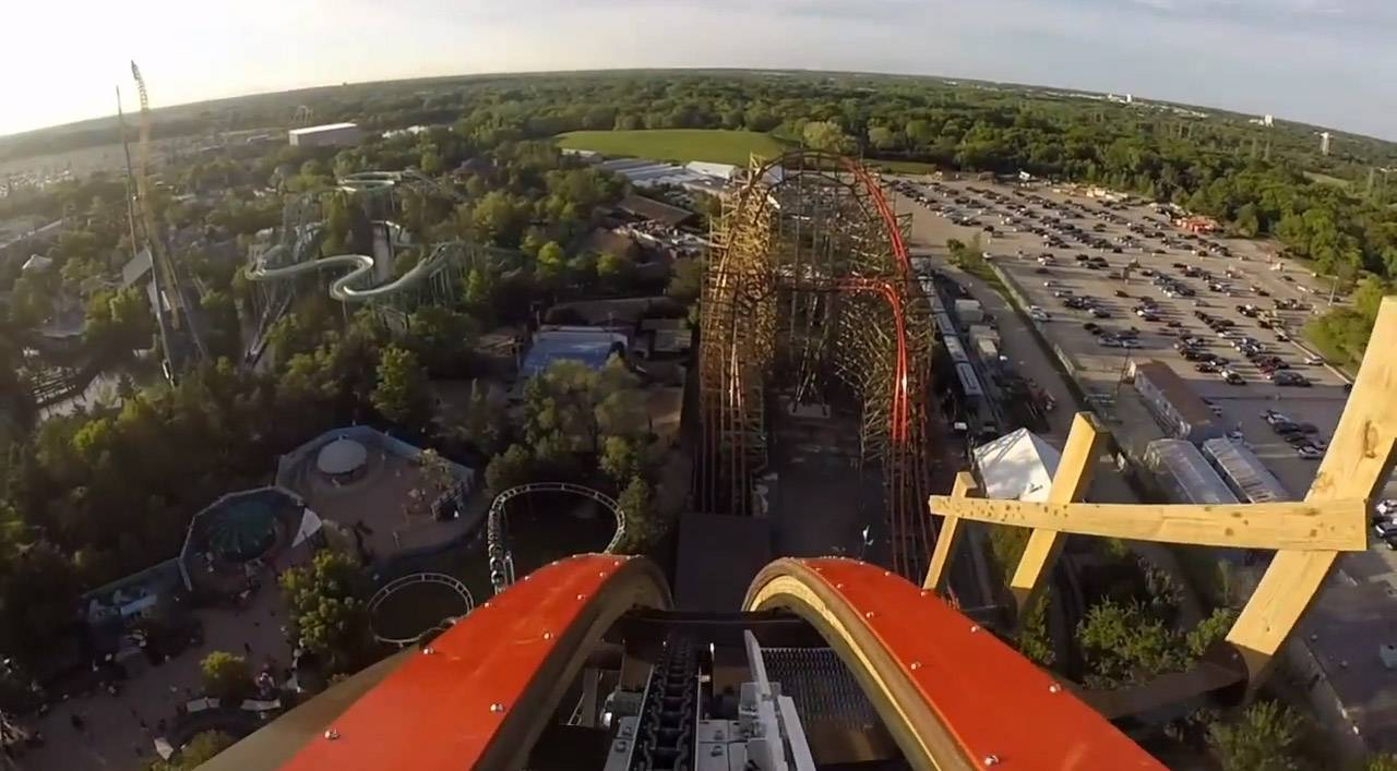 This Six Flags Great America video shows the new Goliath roller coaster from the front car of the ride.