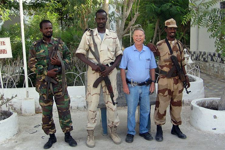 Don Parrish of Downers Grove was able to acquire armed guards while visiting the Puntland region of Somalia in 2010.