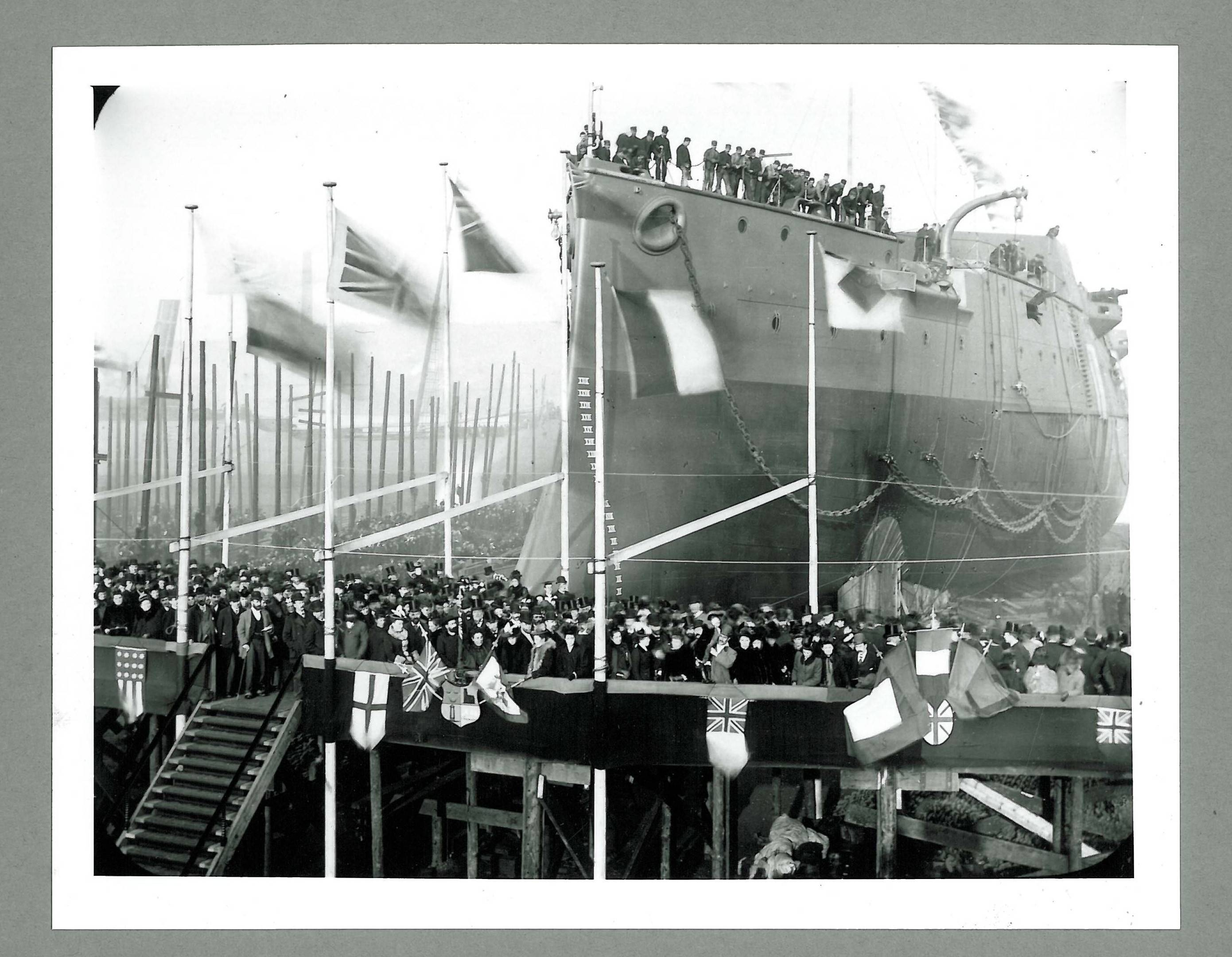 "A historical image shows a ship launch from Wallsend, North Tyneside in England. This is the shipbuilding town where pop superstar Sting was born and is the inspiration for his new musical, ""The Last Ship."""