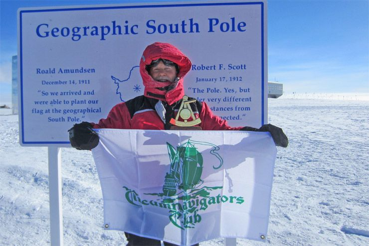 Don Parrish of Downers Grove made a visit to the South Pole in 2011.