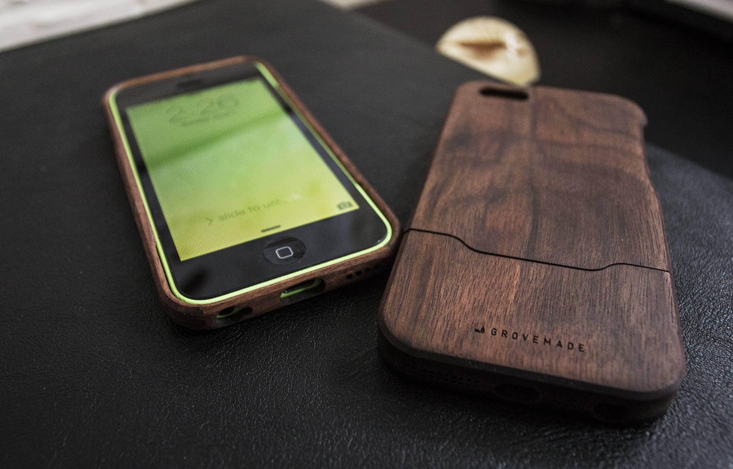 Dad might like these walnut wood iPhone cases from Portland, Ore.-based Grovemade.