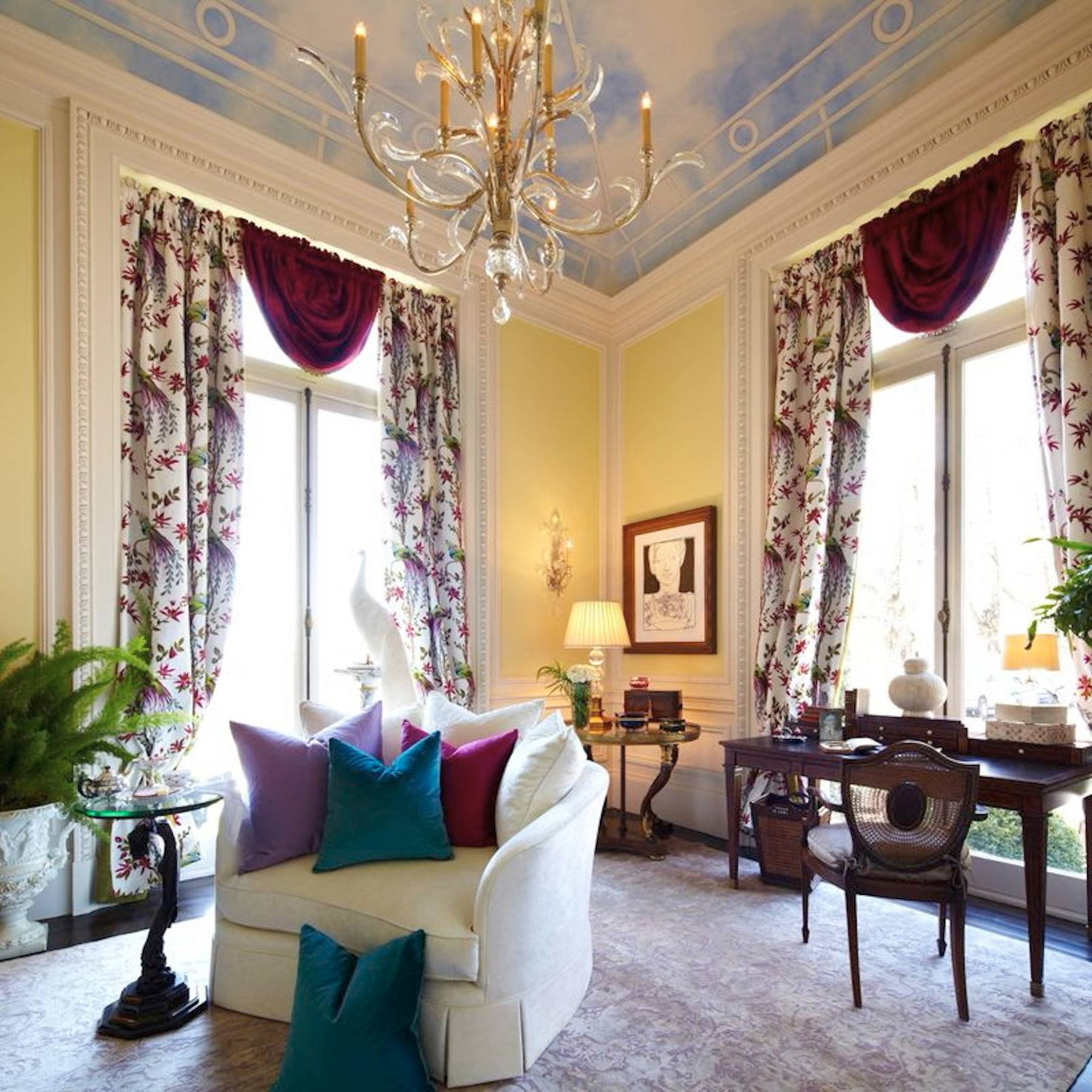"Something to write home about: an elegant ""room of her own,"" designed to inspire any woman author. Photo: Timothy and Associates Interior Design (END CAPTION)"