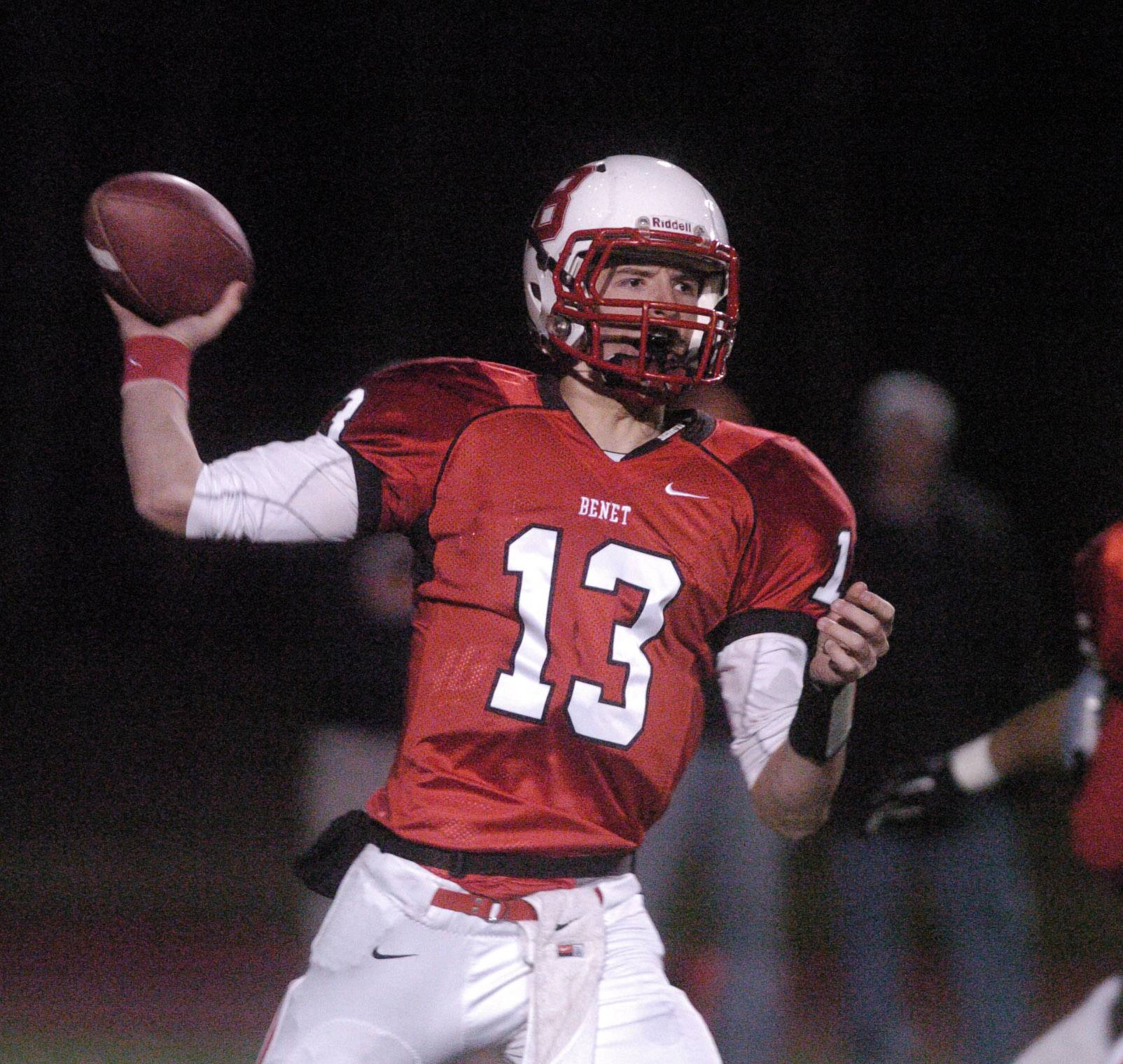 Senior quarterback Jack Beneventi is transferring to Fenwick from Benet.