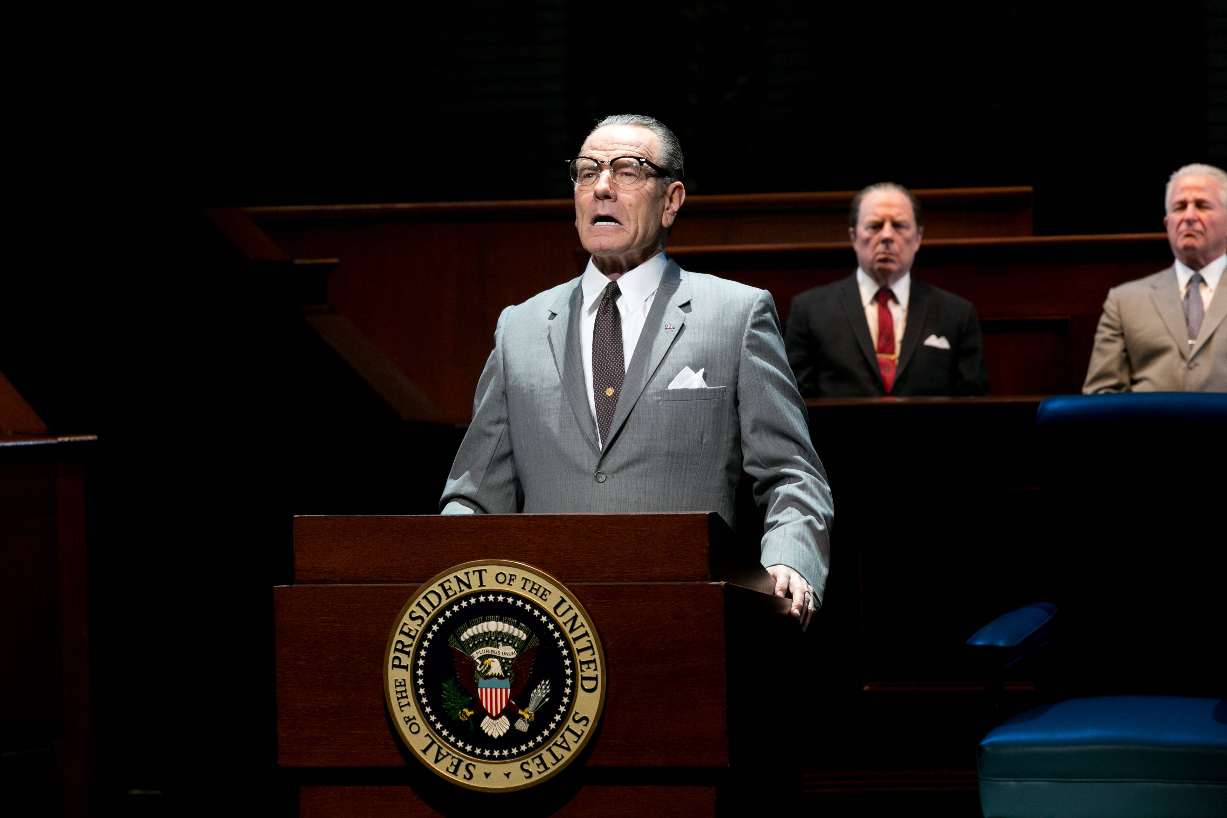 "Bryan Cranston won best actor in a play for portraying President Lyndon B. Johnson in ""All the Way"" Sunday night at the Tony Awards."