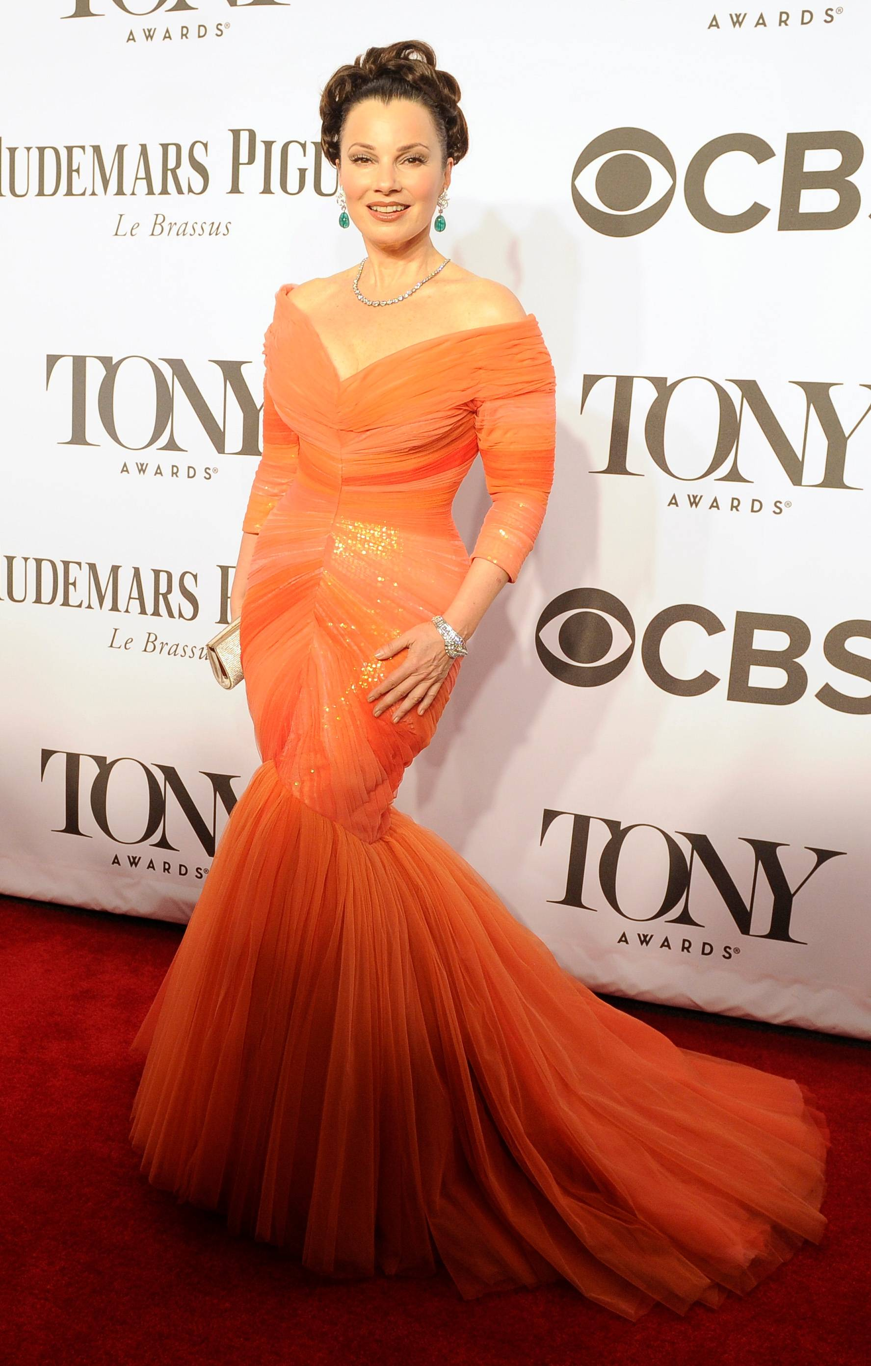 """Rodgers and Hammerstein's Cinderella"" star Fran Drescher arrives at the 68th annual Tony Awards at Radio City Music Hall on Sunday."
