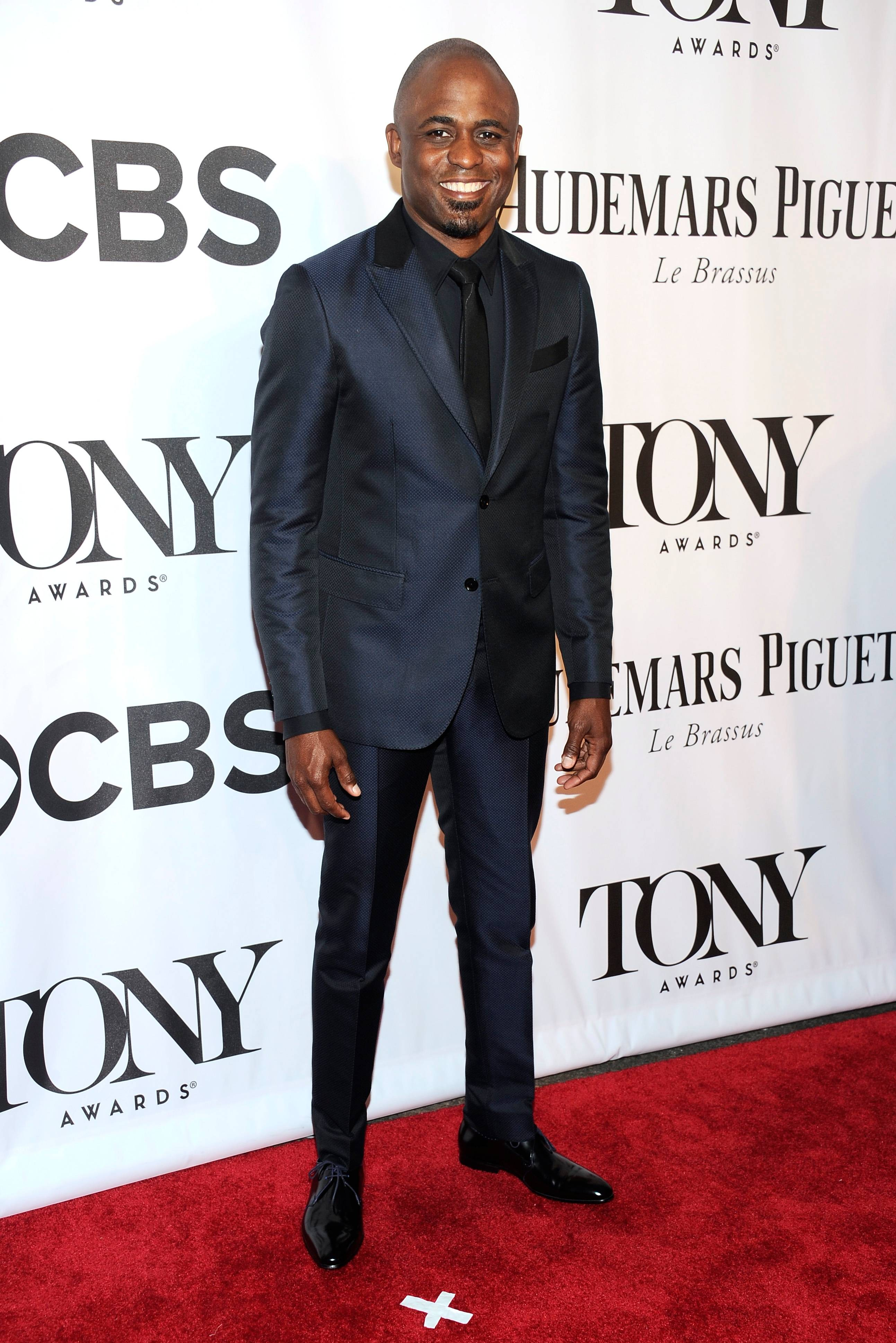 Wayne Brady arrives at the 68th annual Tony Awards at Radio City Music Hall on Sunday.