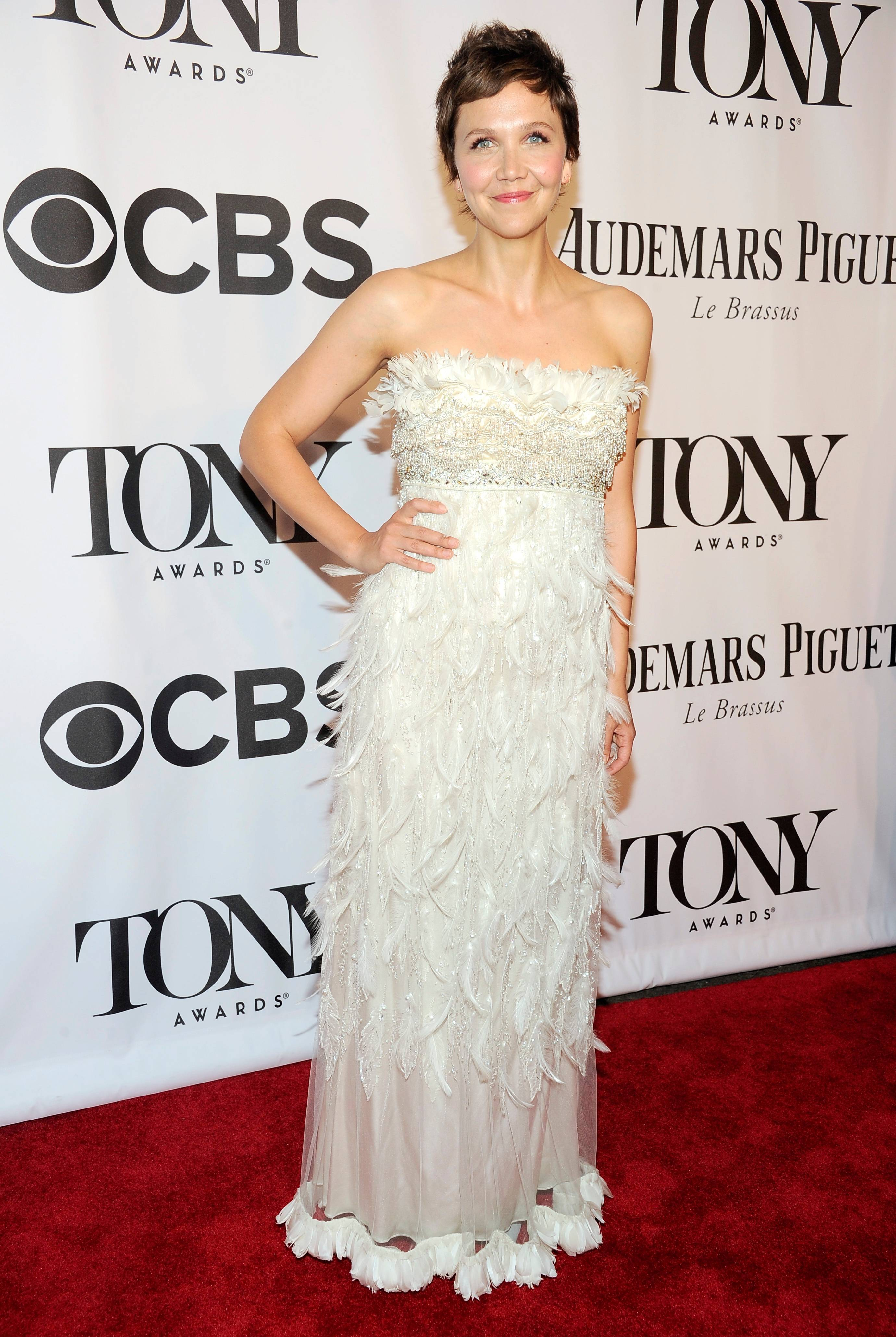 Maggie Gyllenhaal arrives at the 68th annual Tony Awards at Radio City Music Hall on Sunday.