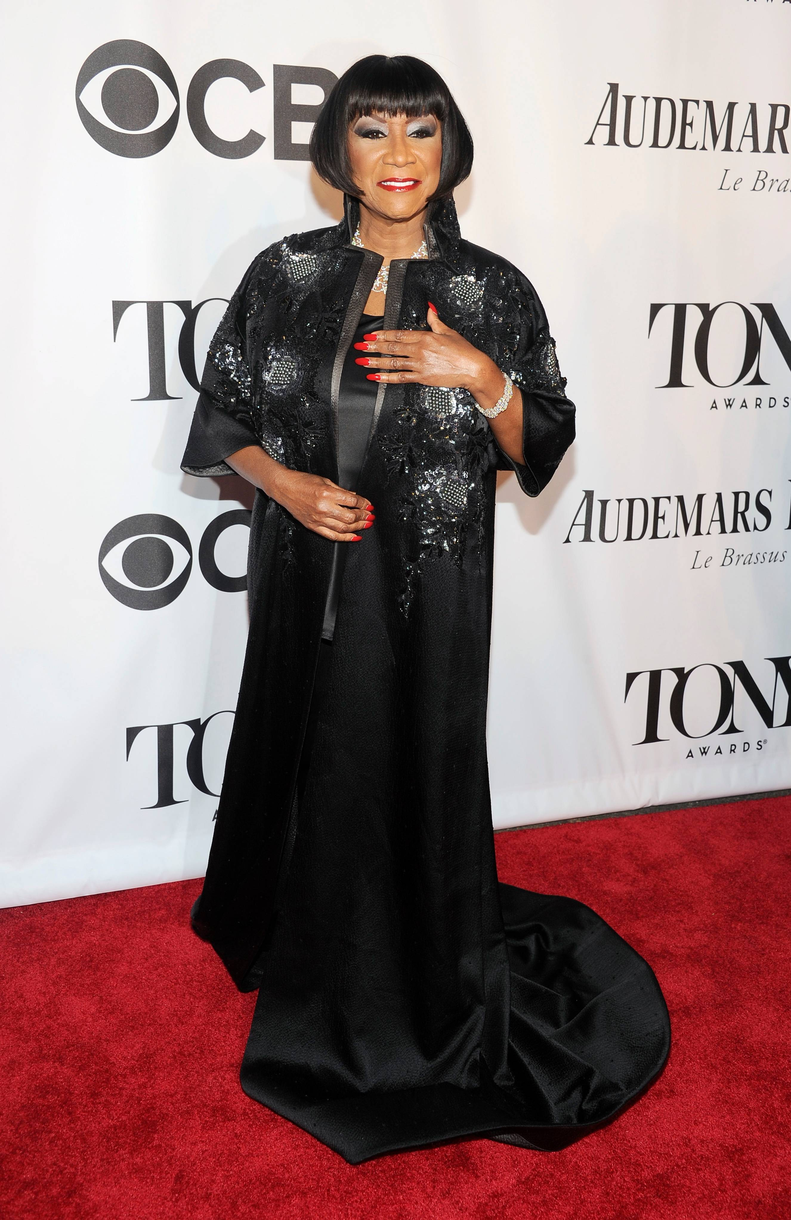 "Patti LaBelle. who will take over Fantasia Barrino's role in ""After Midnight"" this week, arrives at the 68th annual Tony Awards at Radio City Music Hall on Sunday."