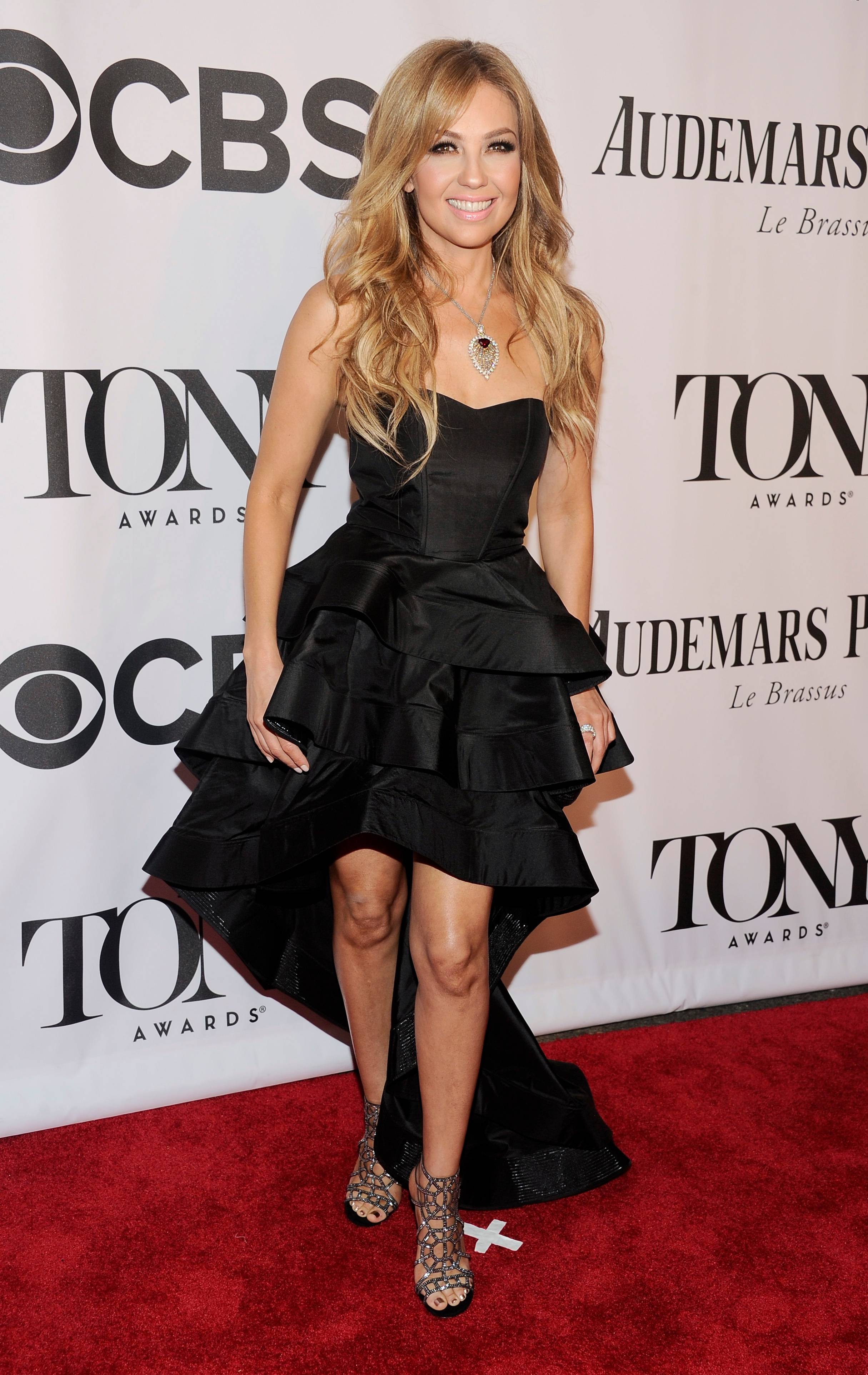 Thalia arrives at the 68th annual Tony Awards at Radio City Music Hall on Sunday.