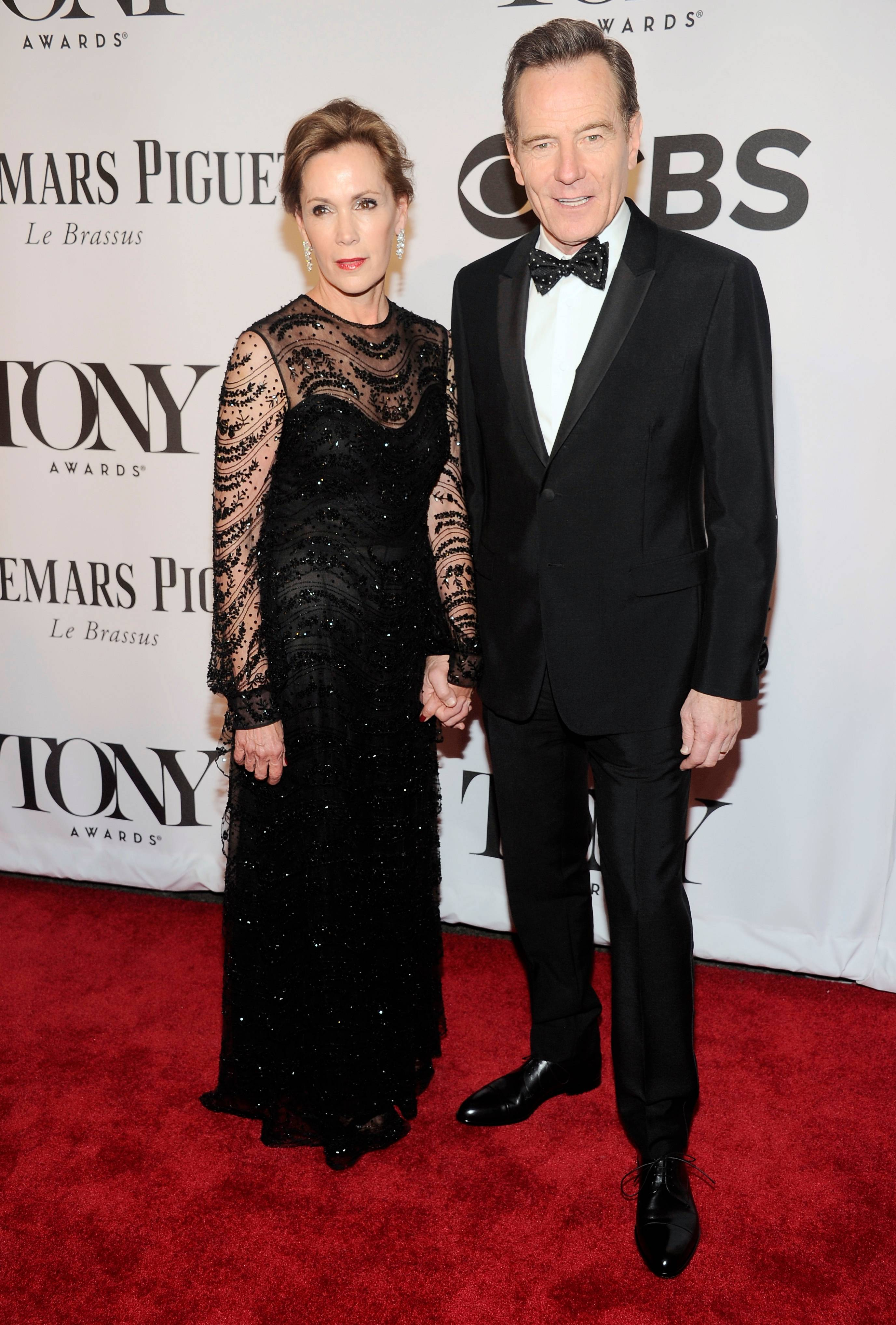"Bryan Cranston, who is up for a Tony for his role in ""All the Way"" walks the red carpet with his wife, Robin Dearden at the 68th annual Tony Awards at Radio City Music Hall on Sunday."