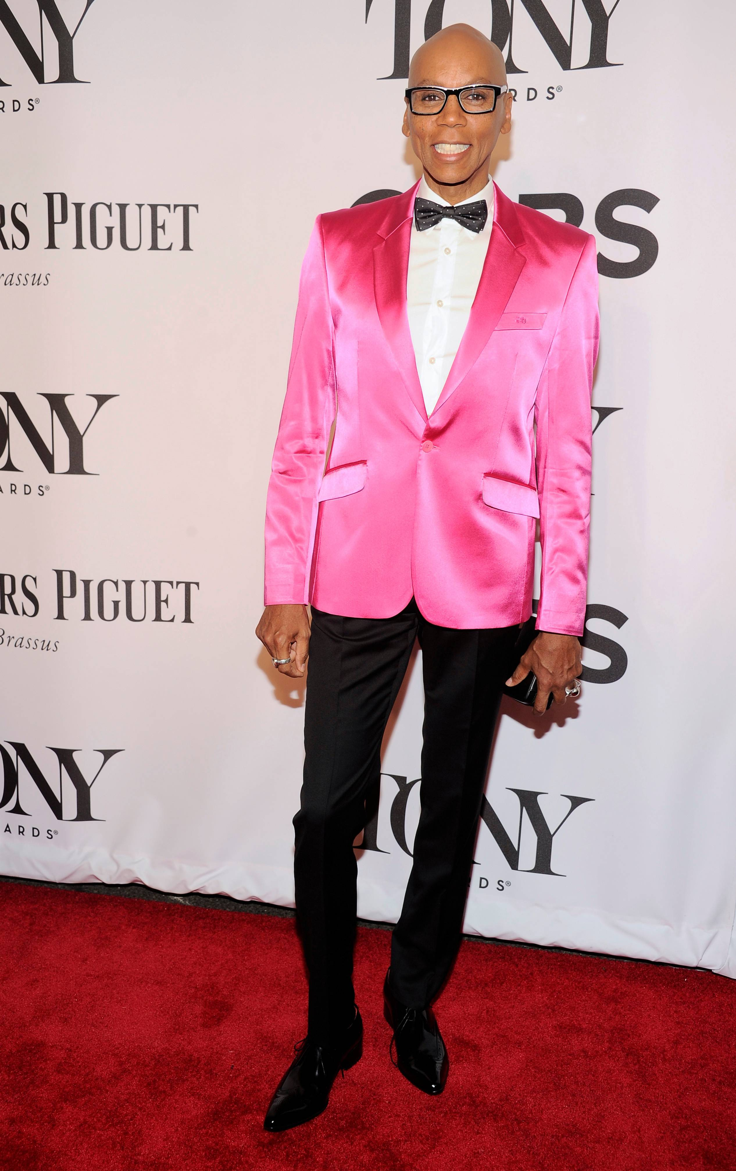 RuPaul arrives at the 68th annual Tony Awards at Radio City Music Hall on Sunday.