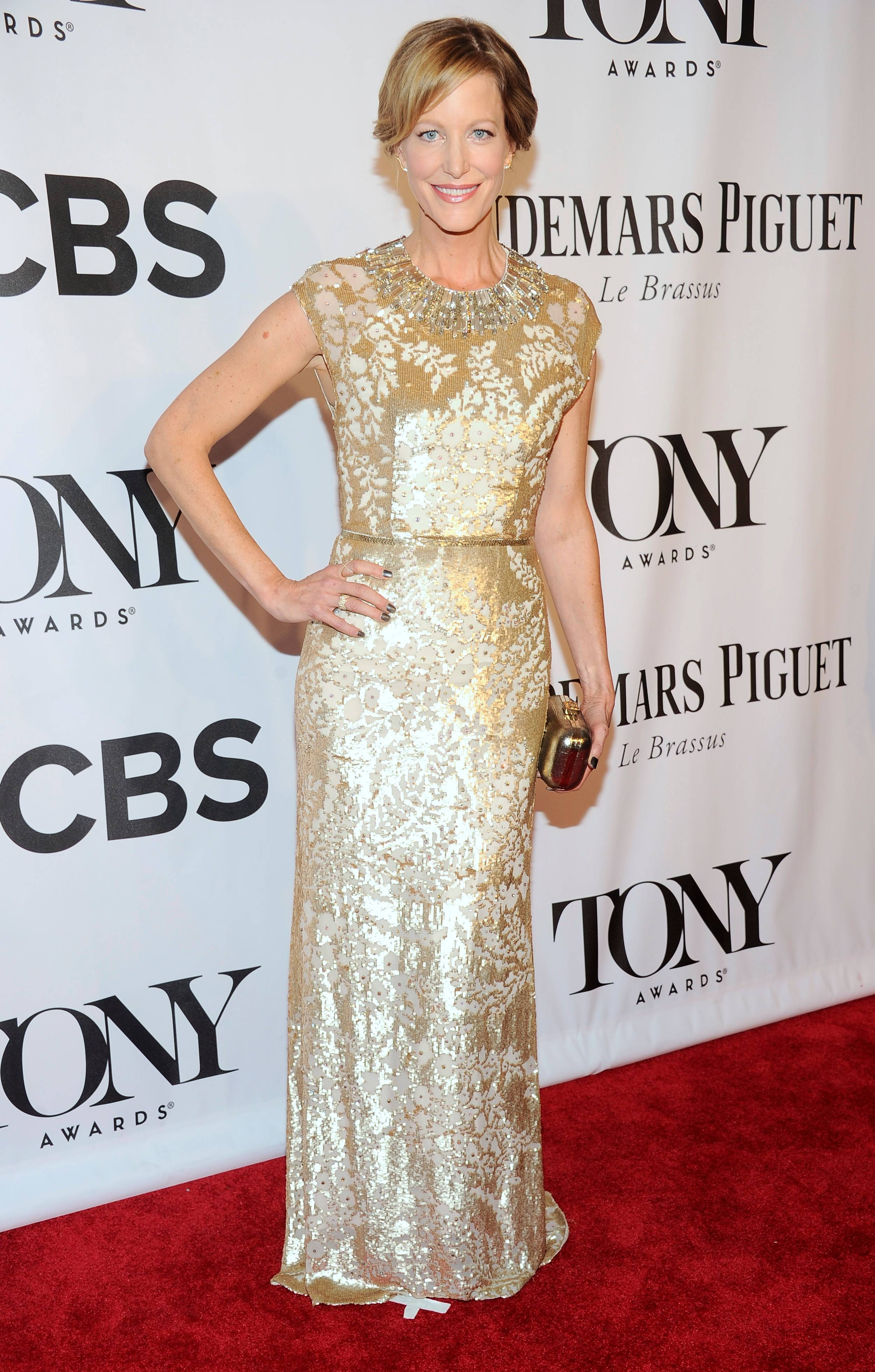 Anna Gunn arrives at the 68th annual Tony Awards at Radio City Music Hall on Sunday.