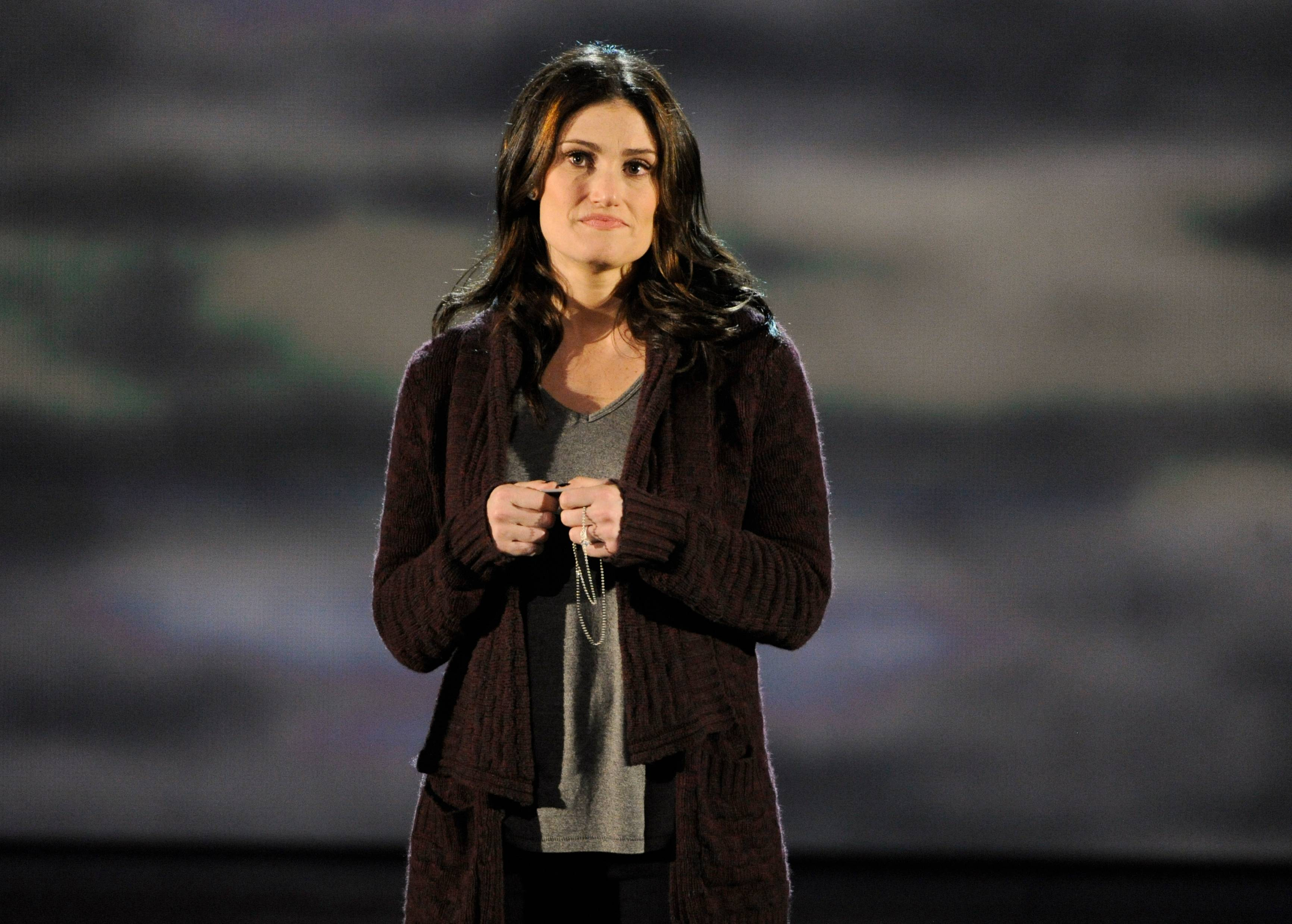 Idina Menzel performs onstage at the 68th annual Tony Awards at Radio City Music Hall on Sunday.