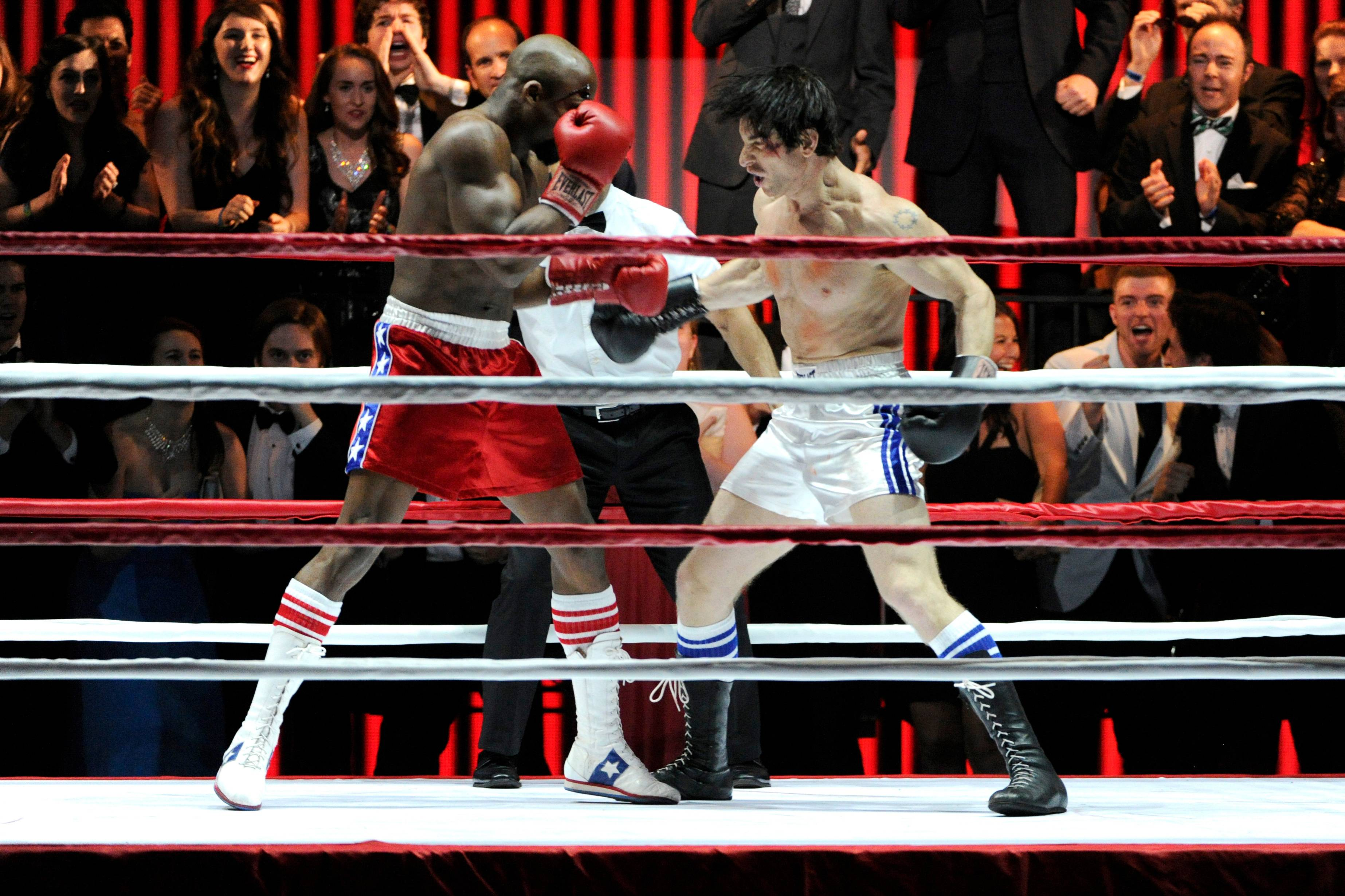 "The cast of ""Rocky"" performs on stage at the 68th annual Tony Awards at Radio City Music Hall on Sunday."