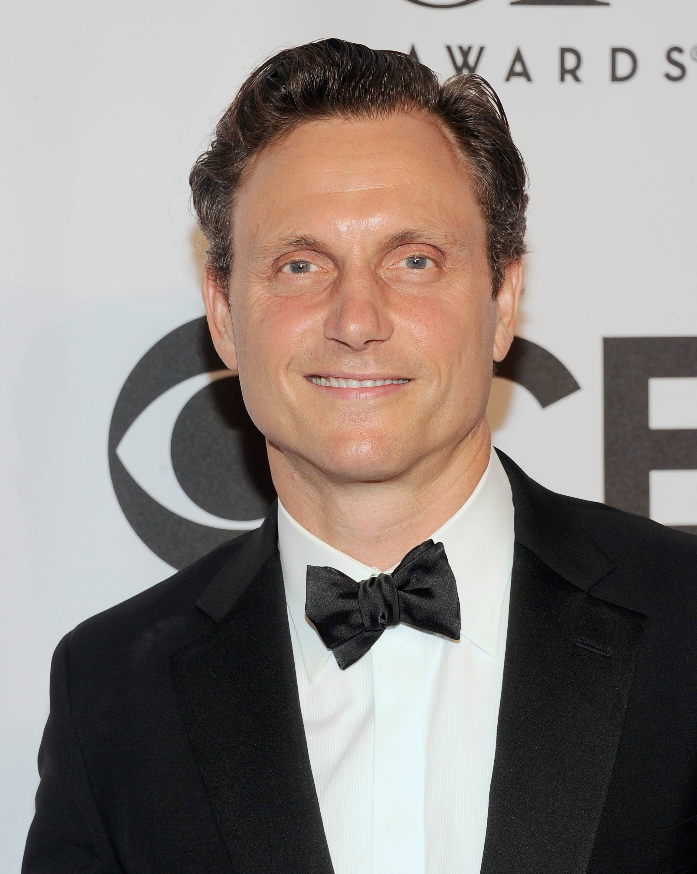 """Scandal"" star Tony Goldwyn arrives at the 68th annual Tony Awards at Radio City Music Hall."
