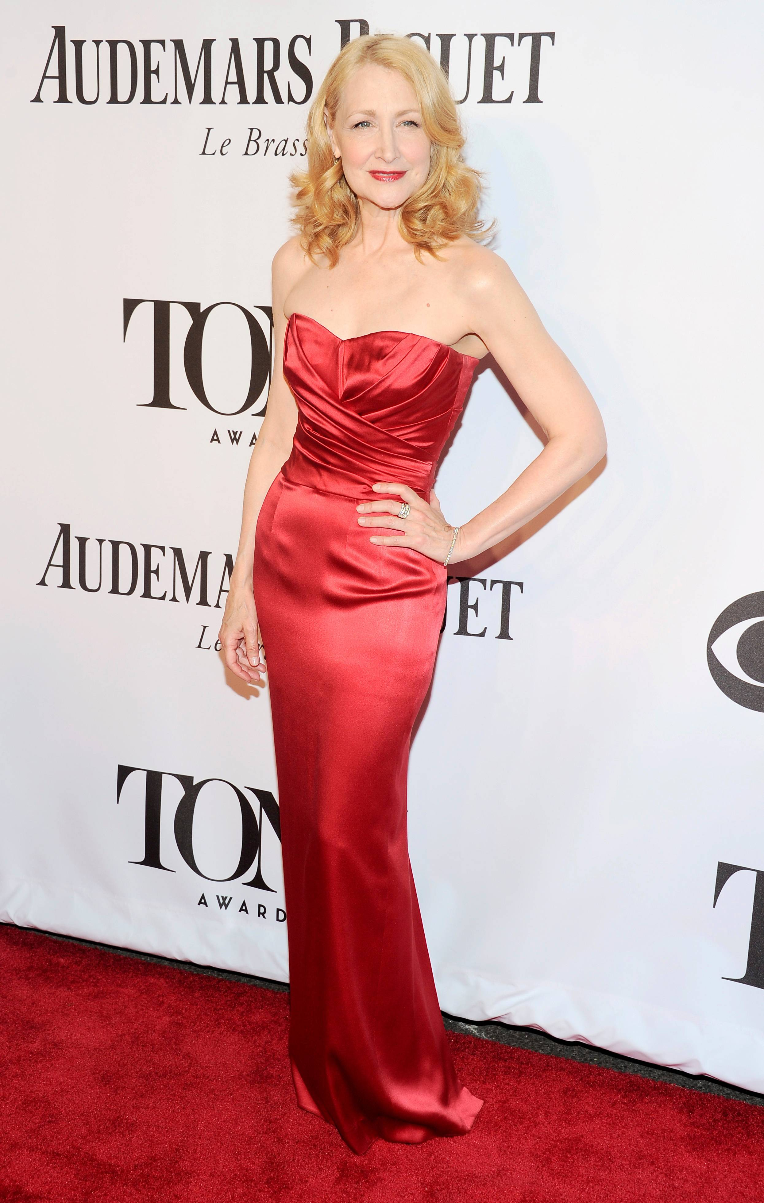 Patricia Clarkson arrives at the 68th annual Tony Awards at Radio City Music Hall on Sunday.