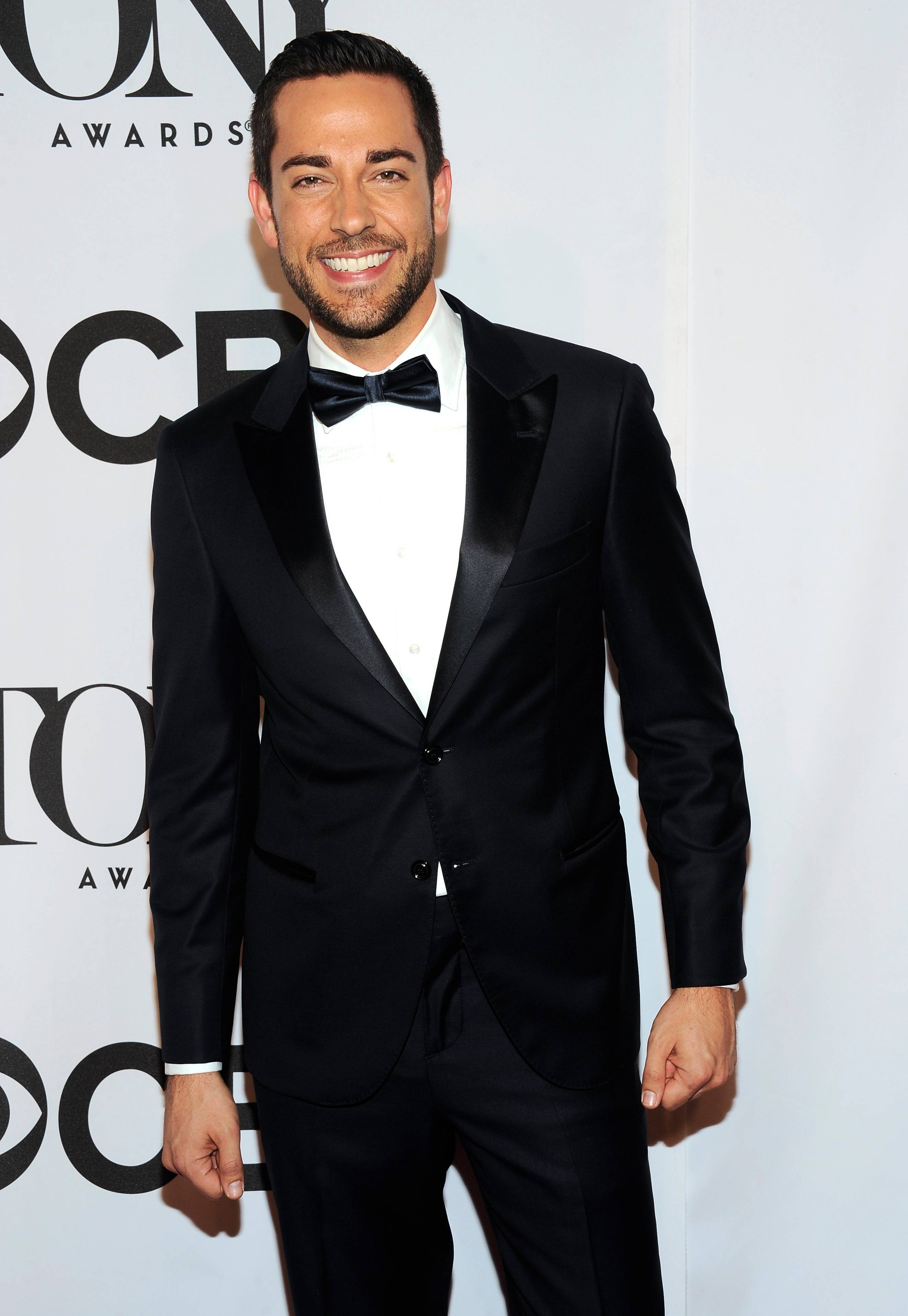 Zachary Levi arrives at the 68th annual Tony Awards at Radio City Music Hall on Sunday.