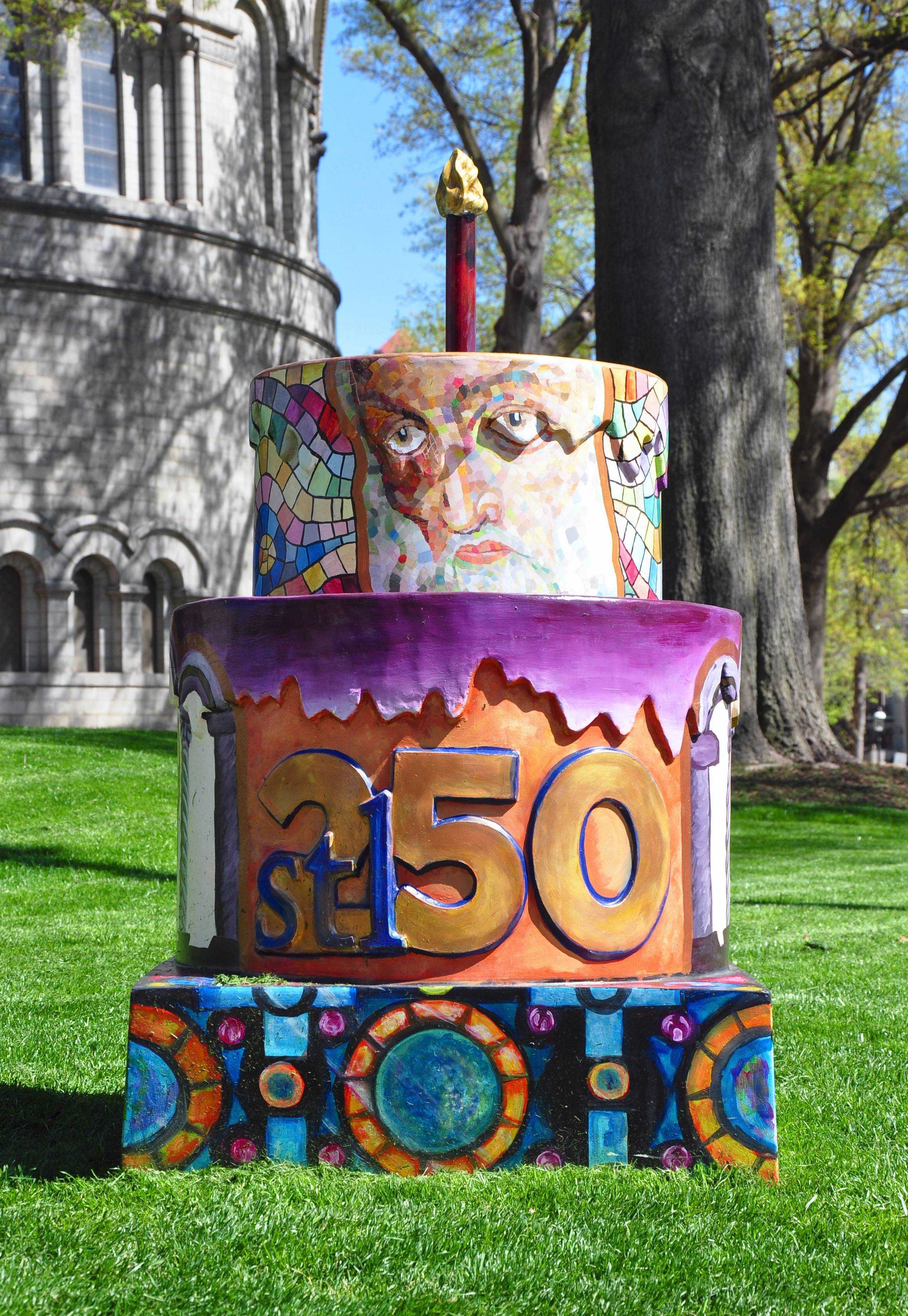 To mark the 250th anniversary of the founding of St. Louis, 250 fiberglass cakes have been placed in noteworthy locations around the region.