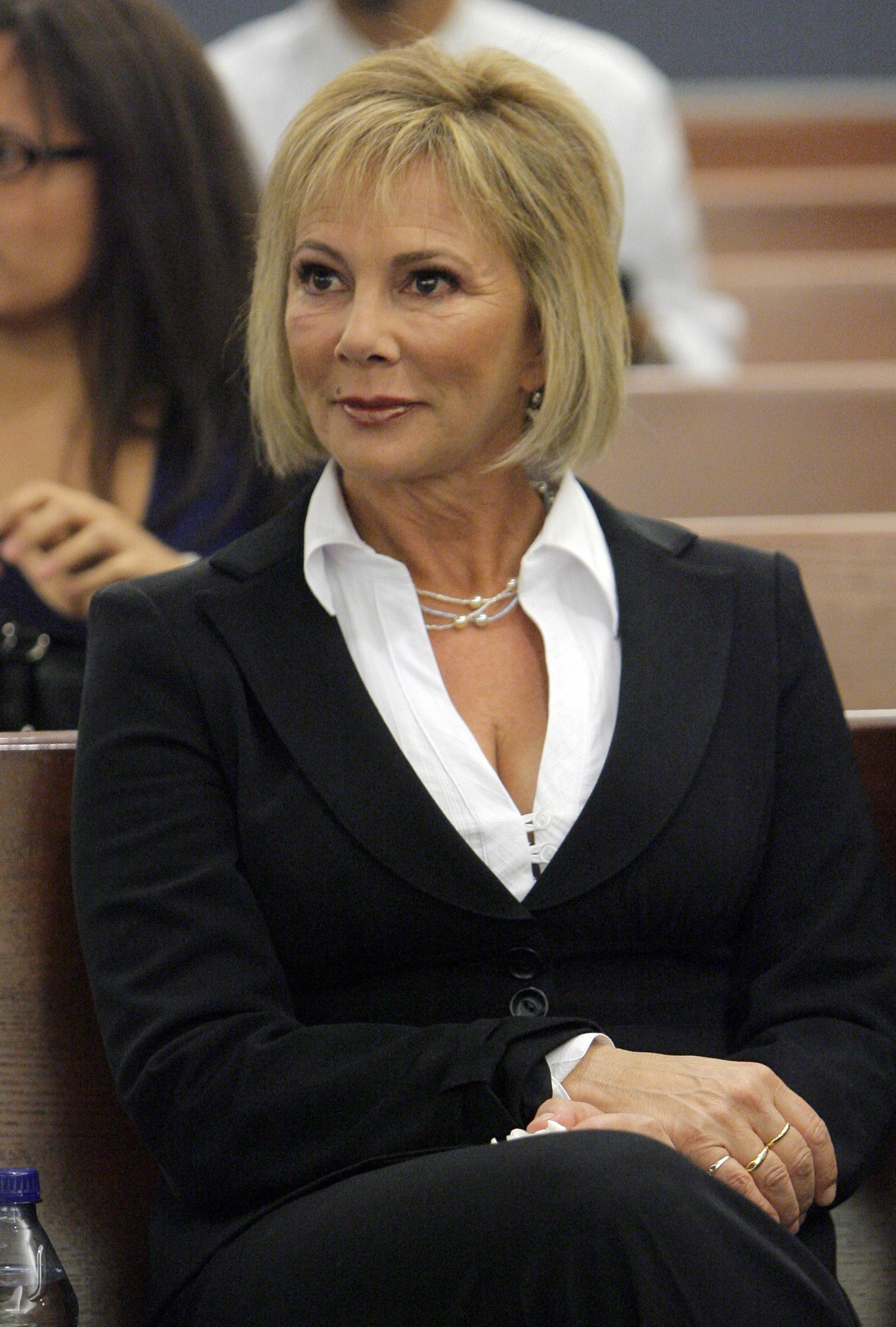 "Marcia Clark, who was the chief prosecutor in O.J. Simpson's murder trial, sits in a Clark County Justice courtroom during Simpson's arraignment in Las Vegas, as a legal correspondent for ""Entertainment Tonight"" and ""The Insider"" syndicated celebrity television shows. Clark, never tried another case and stopped practicing law."