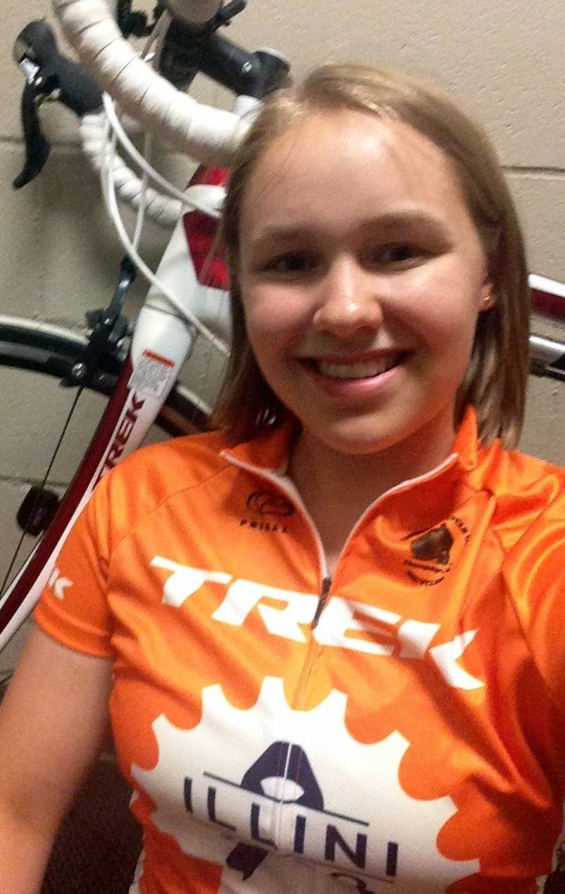 Many members of Illini 4000, a team of 20 University of Illinois students who are biking across the country this summer to raise money for cancer-related causes, are relative newcomers to bicycling. Grace Deetjen, 19, of Naperville, is one of them.
