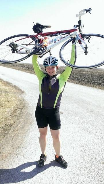Grace Deetjen, 19, of Naperville, is one of 20 Illini 4000 members who will spend their summer biking across the nation to raise money for cancer research.