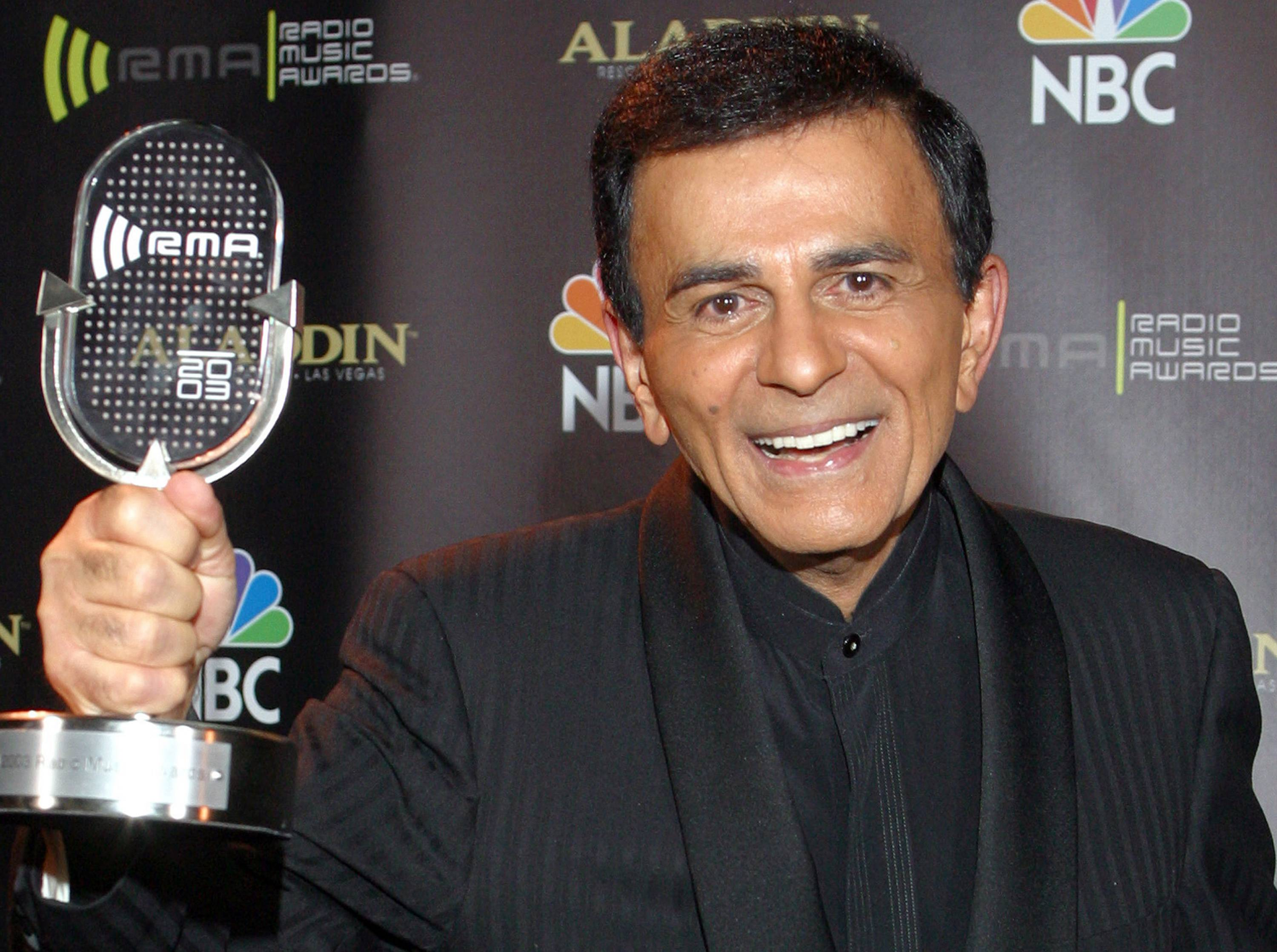 Casey Kasem poses for photographers after receiving the Radio Icon award during The 2003 Radio Music Awards in Las Vegas. A Los Angeles judge on Monday ruled that Kasem should receive food, hydration and medication while a court-appointed attorney travels to Washington state to evaluate the ailing radio personality and make a recommendation about his ongoing care.