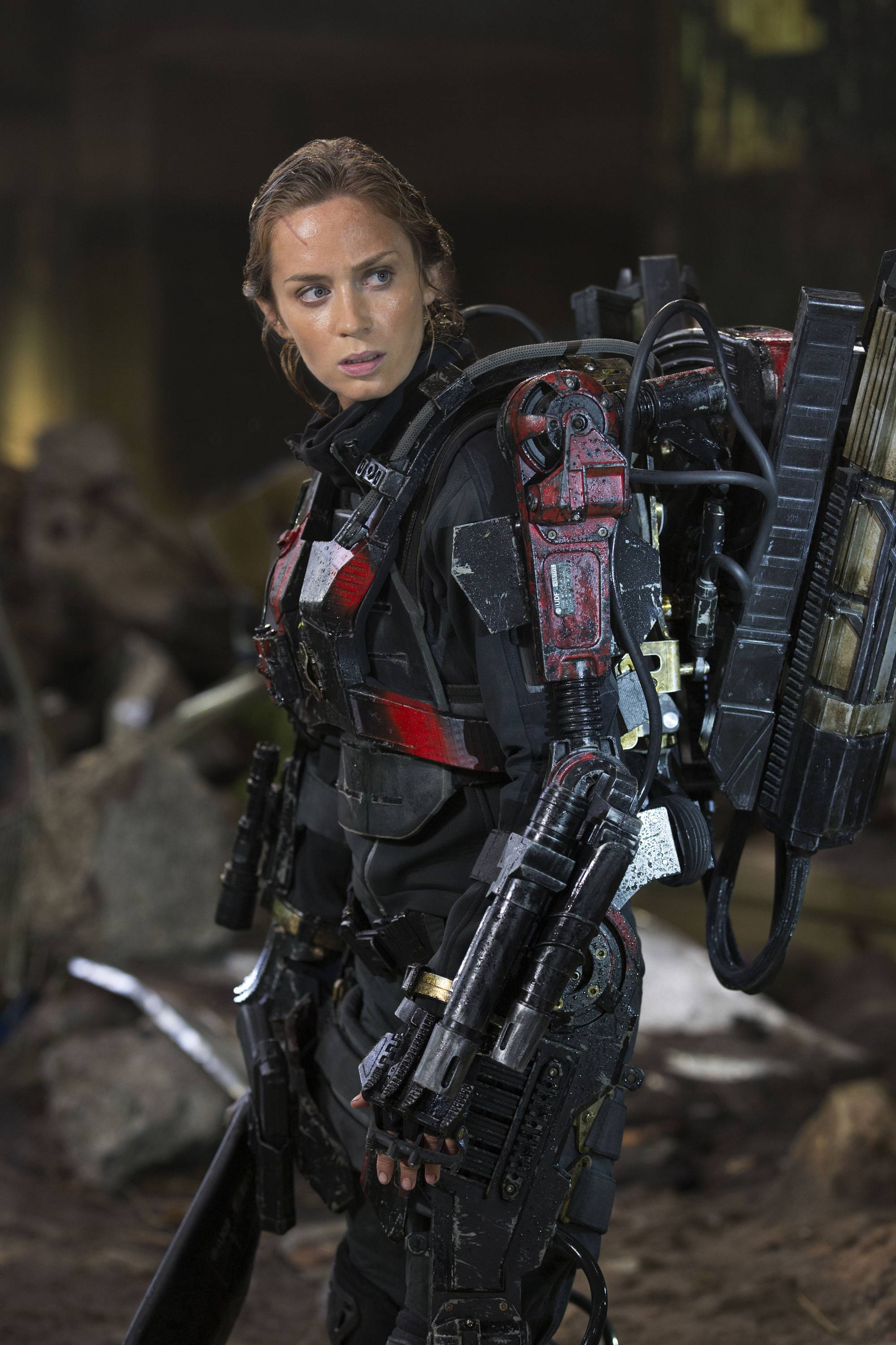 "Emily Blunt stars as Rita in Warner Bros. Pictures' and Village Roadshow Pictures' sci-fi thriller ""Edge of Tomorrow."""