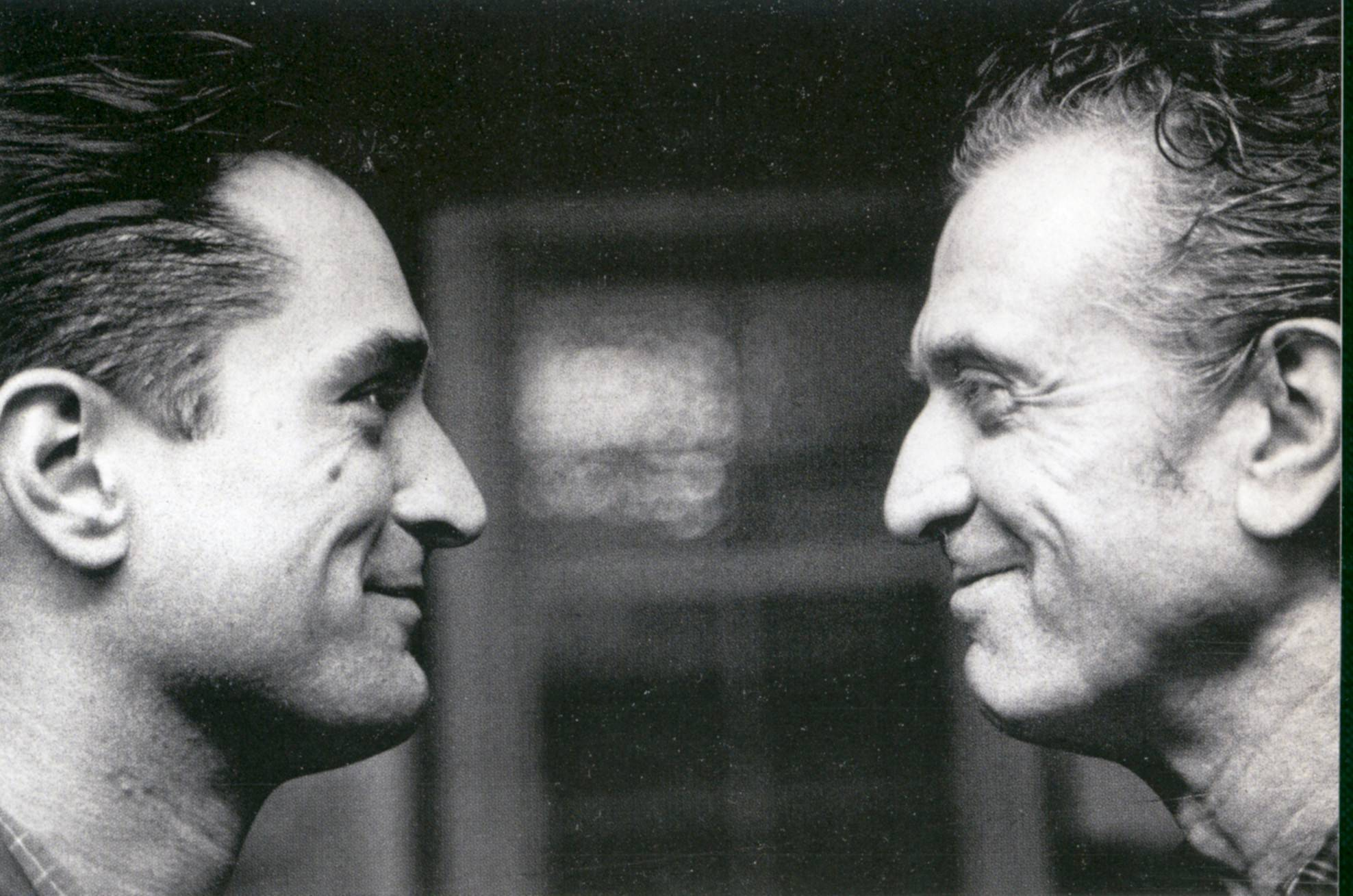 "Robert De Niro, left, honors his father, right, in the documentary ""Remembering the Artist: Robert De Niro, Sr.,"" airing on HBO."