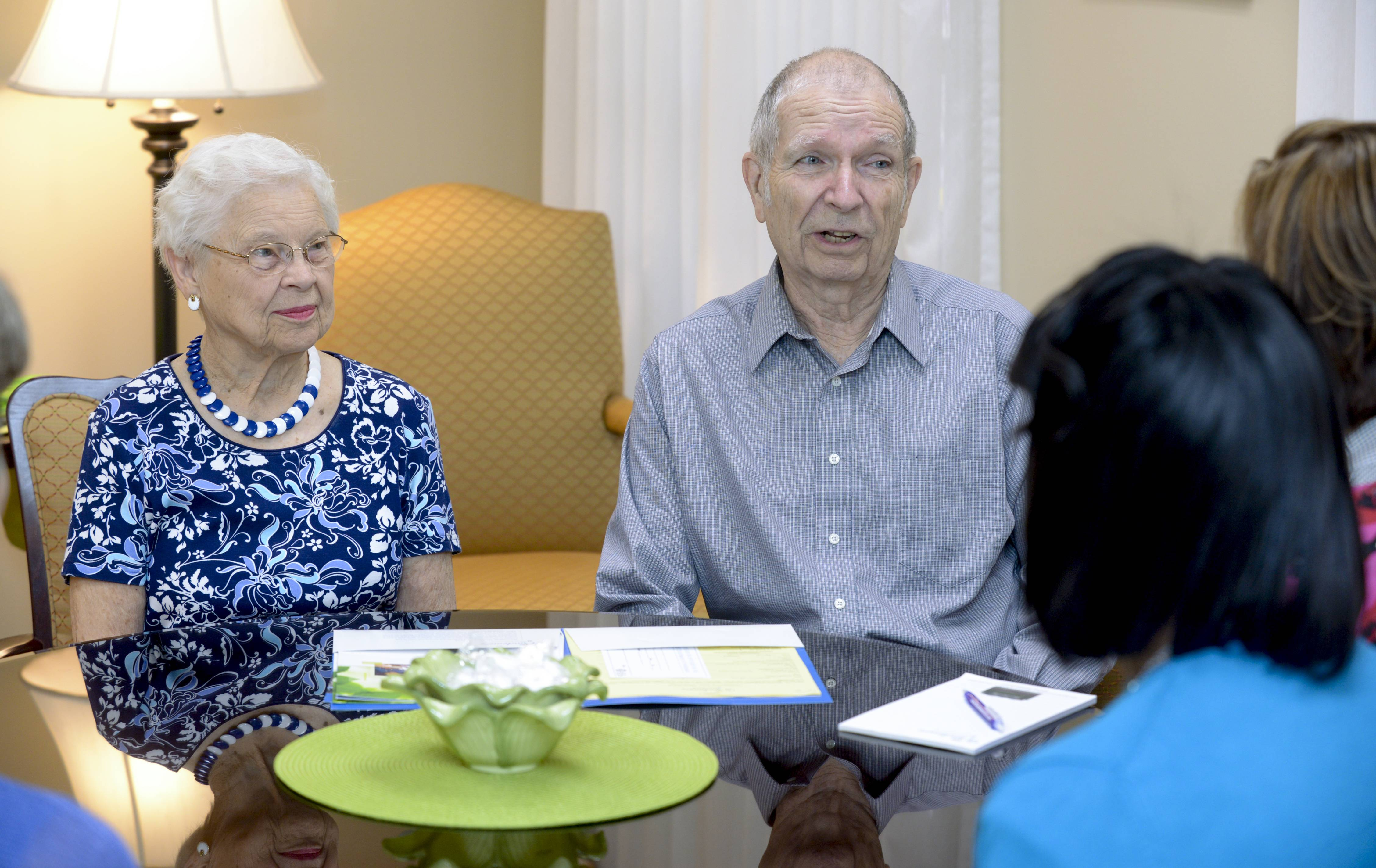 Lois and Don Fischer stay active by working on committees at their retirement community, Wyndemere, in Wheaton.