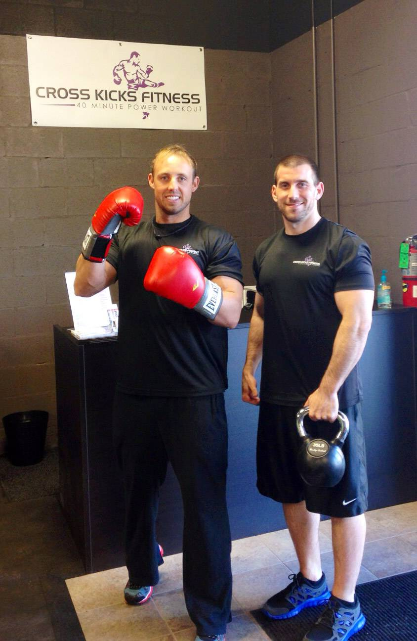 Tony Wuebker, left, and AJ Alfrey are lead trainers and fitness consultants Cross Kicks Fitness in Roselle.