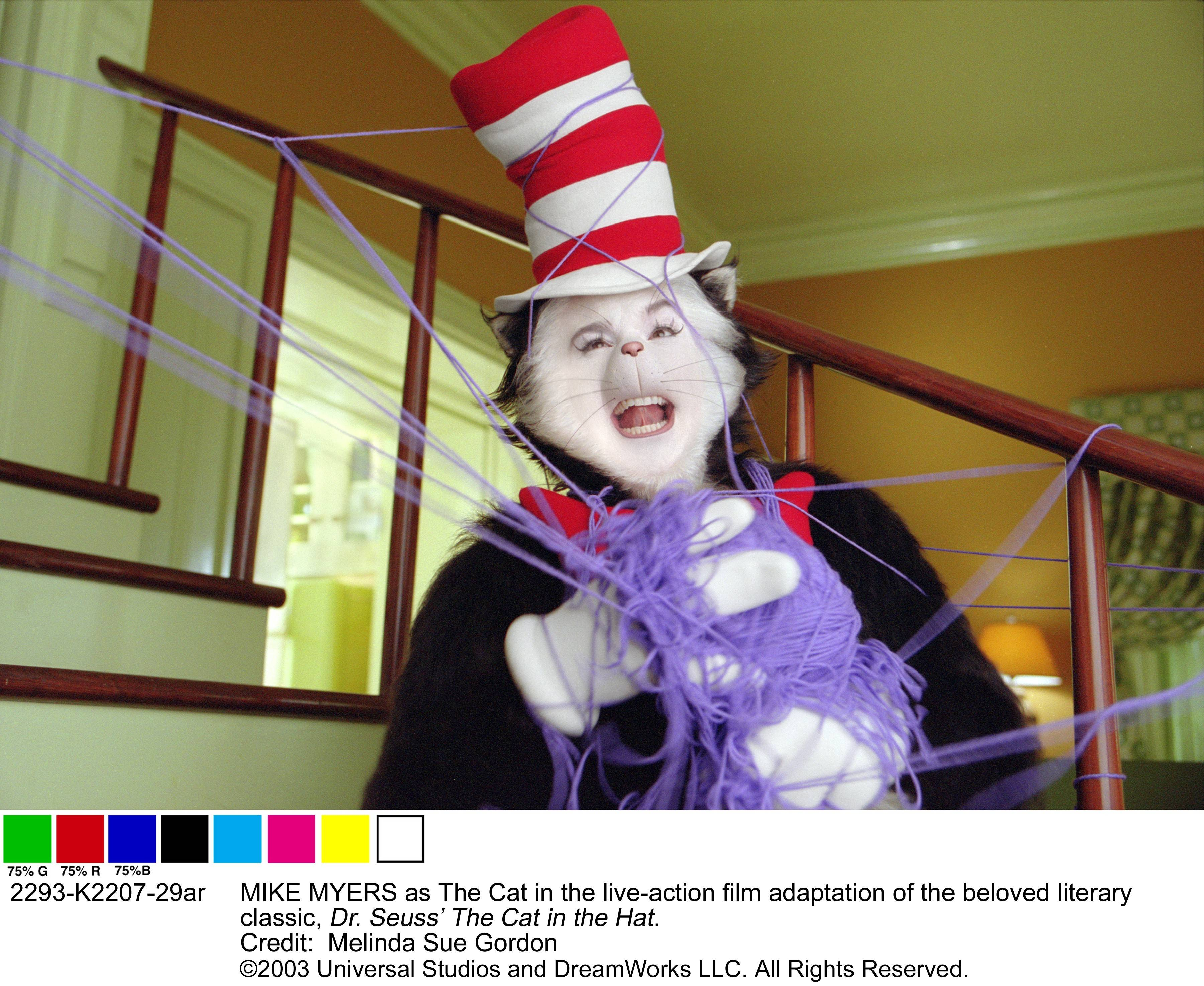 "Mike Smithson, who was born in Woodstock and grew up in McHenry, designed the elaborate makeup for star Mike Myers in ""Dr. Seuss' Cat in the Hat."""