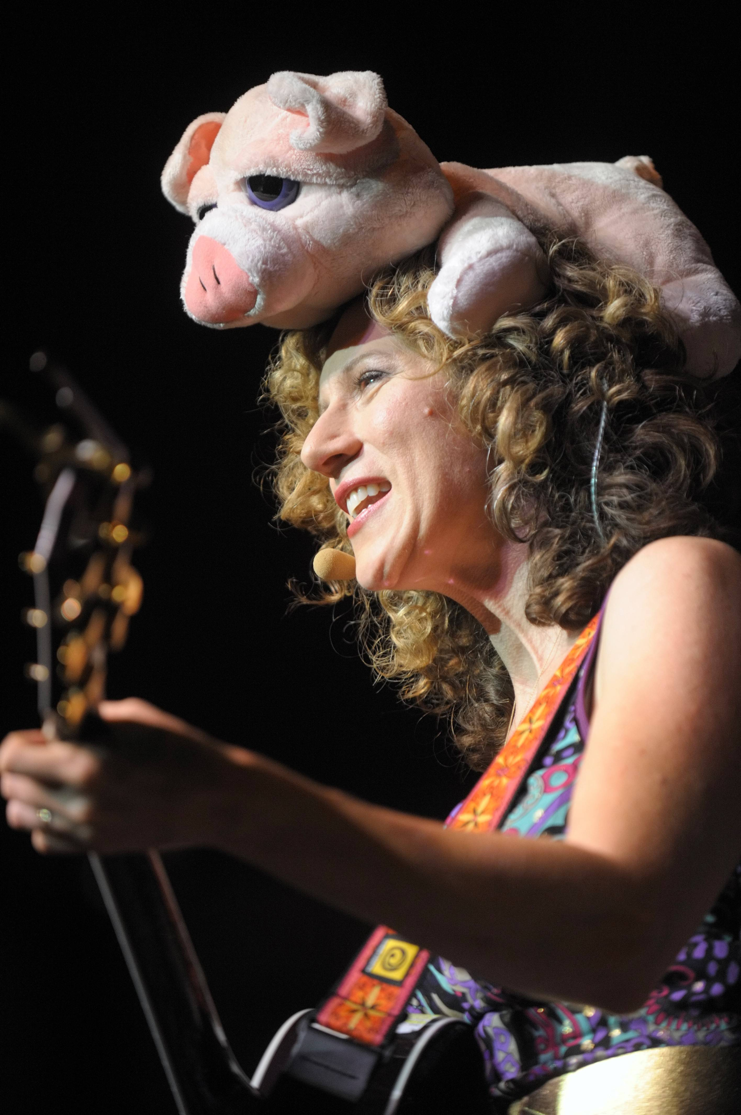 Laurie Berkner performs a family concert at the Ravinia Festival in Highland Park on Saturday, June 14.