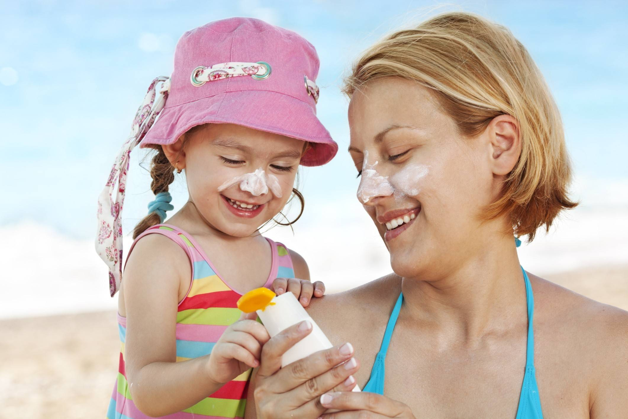 Be sure to slather on the  sunscreen this summer to avoid damaging your skin.