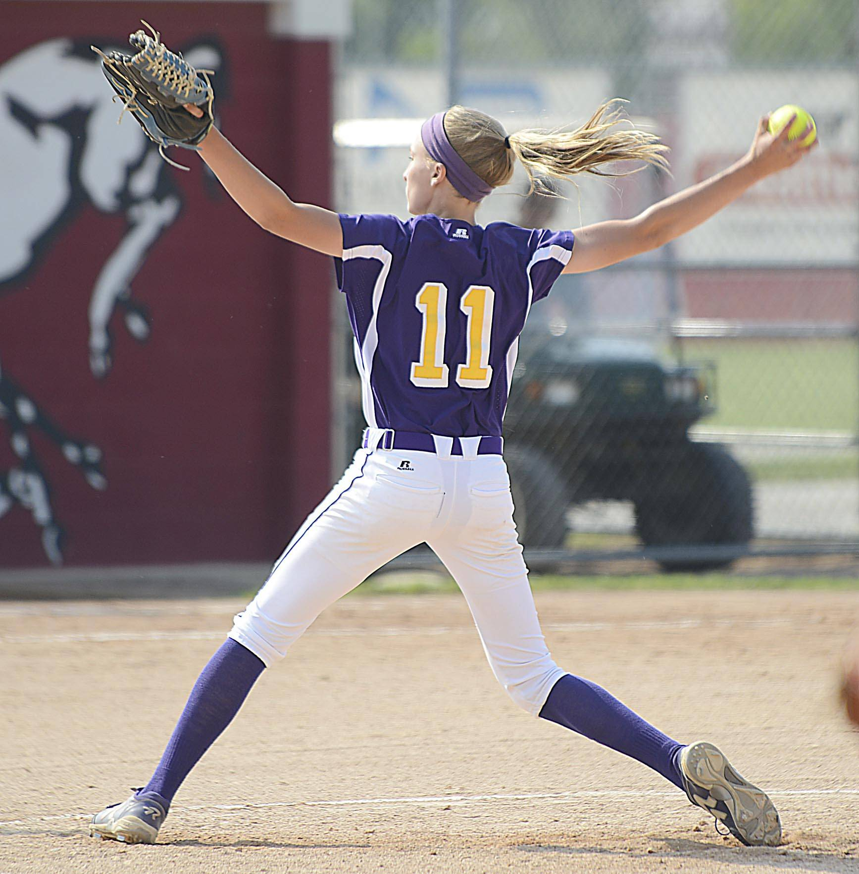 Wauconda's Kayla Wedl pitches against Sterling in the Class 3A Barrington supersectional Monday.