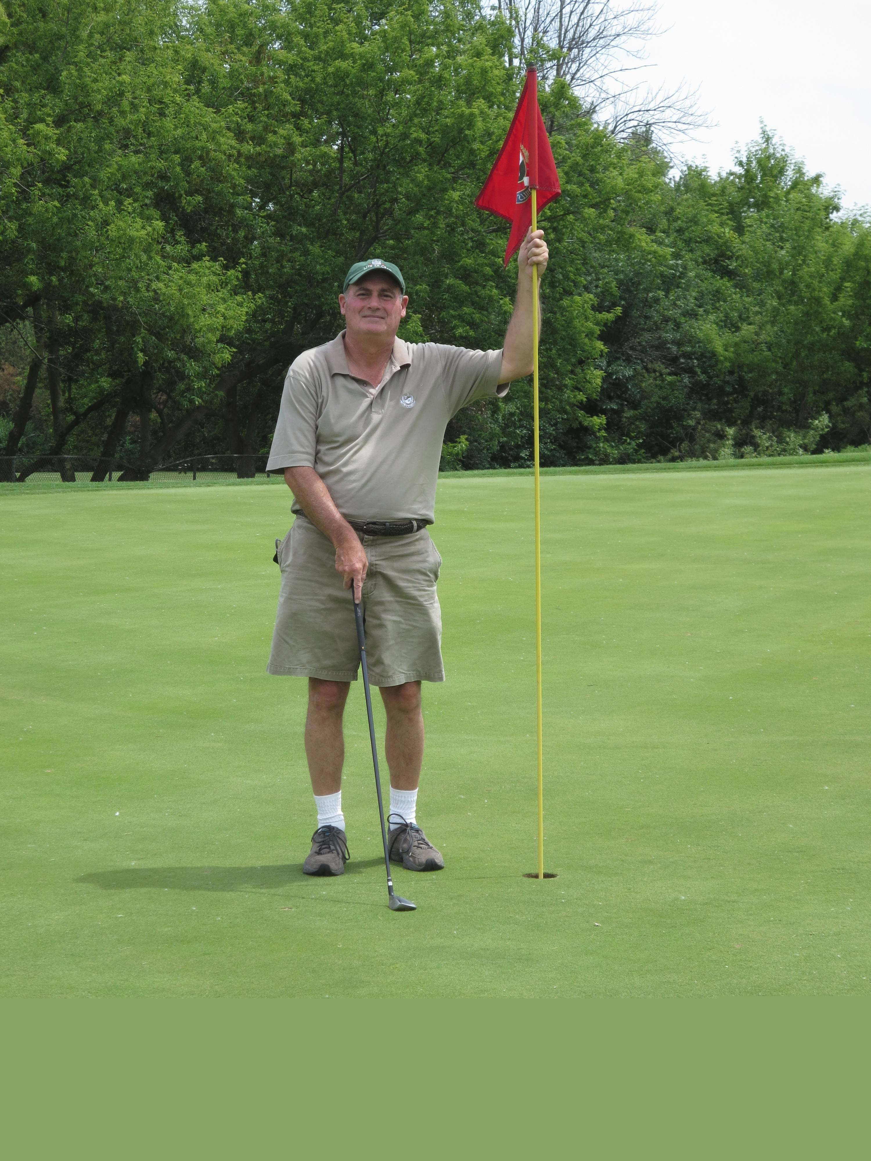 Joe Saccomanno aced hole No. 13 recently at Palatine Hills Golf Course.