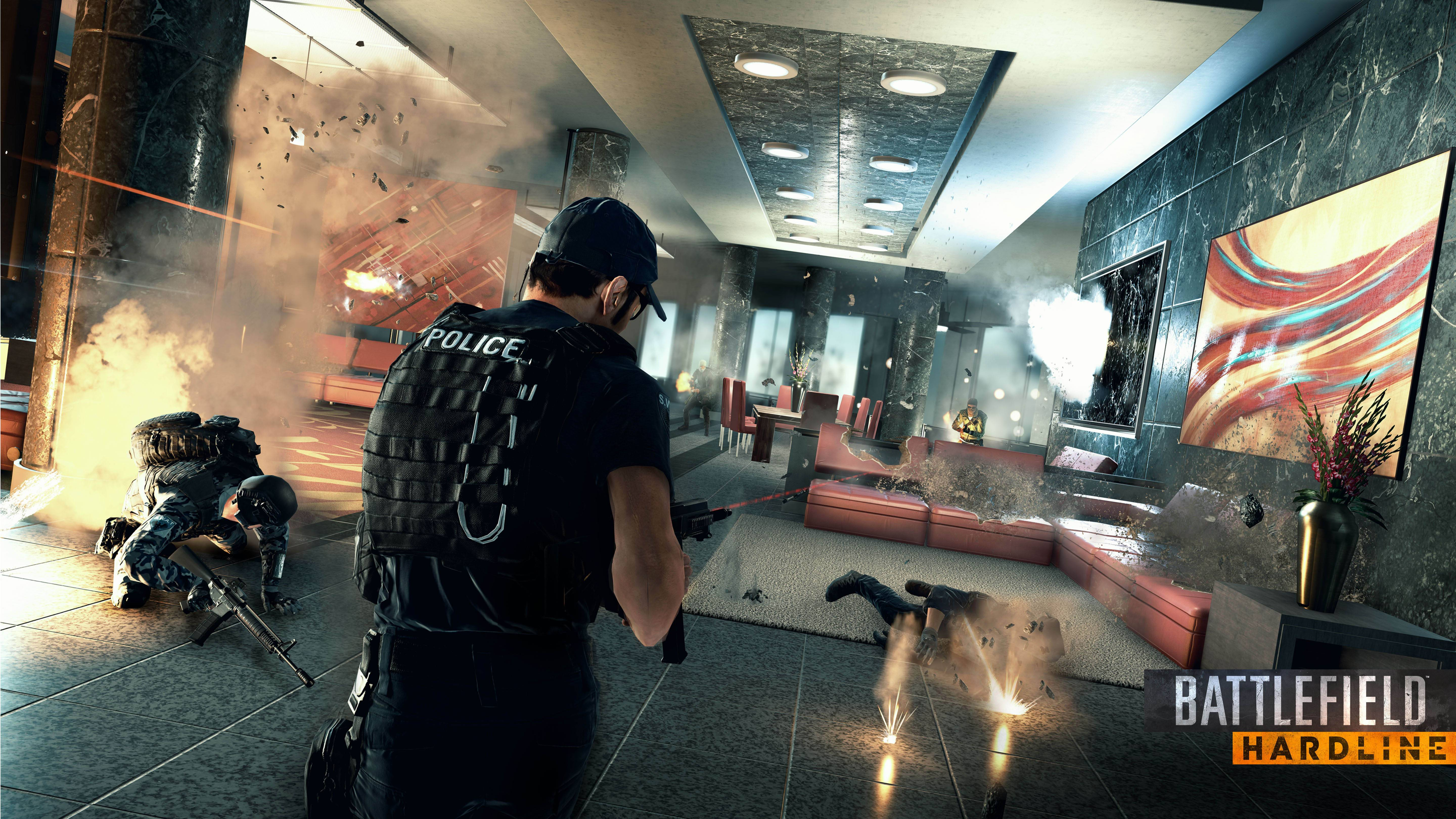"Electronic Arts is testing its latest ""Battlefield: Hardline"" game at E3."