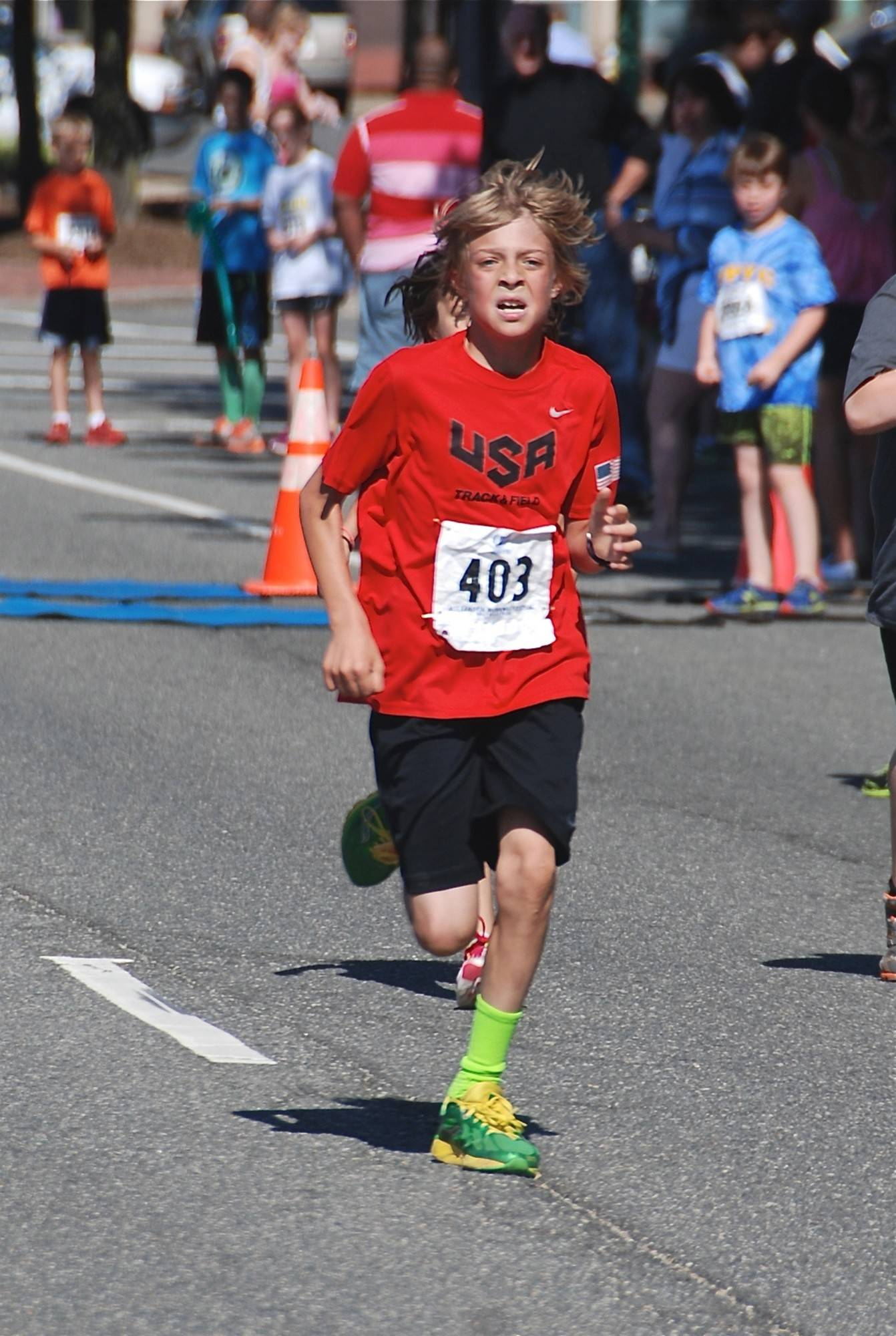 Rheinhardt Harrison, 10, of Falls Church, Va., ran his first half-marathon in 1:35:02. The time, believed to be a world record for his age, is awaiting certification.