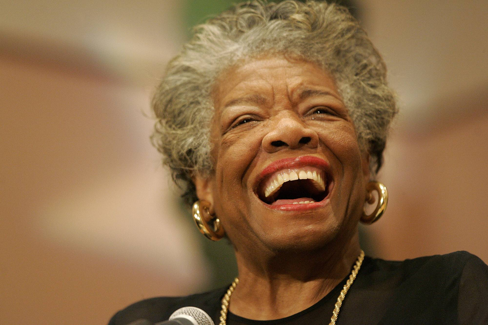 Poet, actress and civil rights champion Maya Angelou died in May.