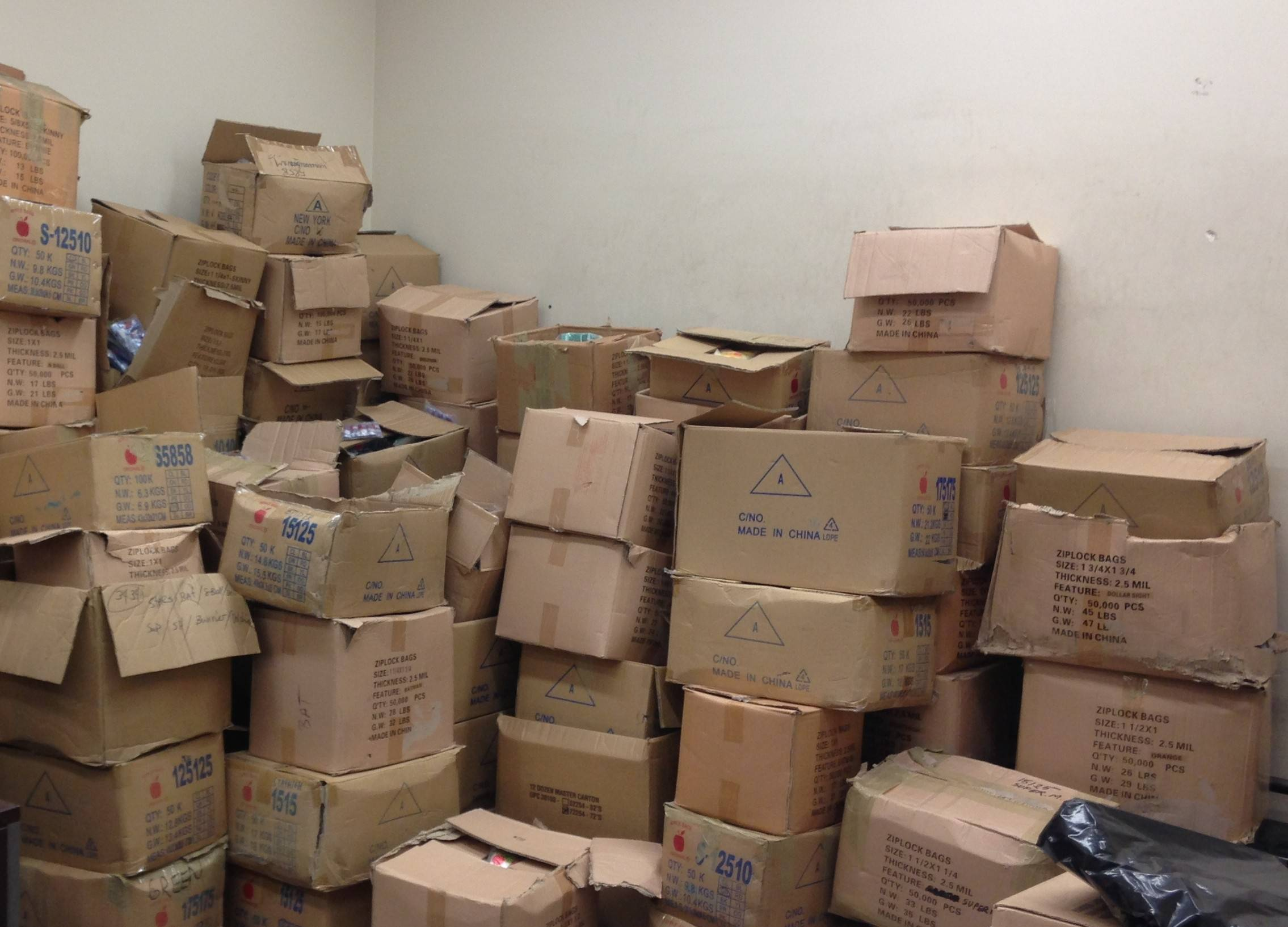Police recovered boxes, scales and other items in a retail store on the city's West Side.