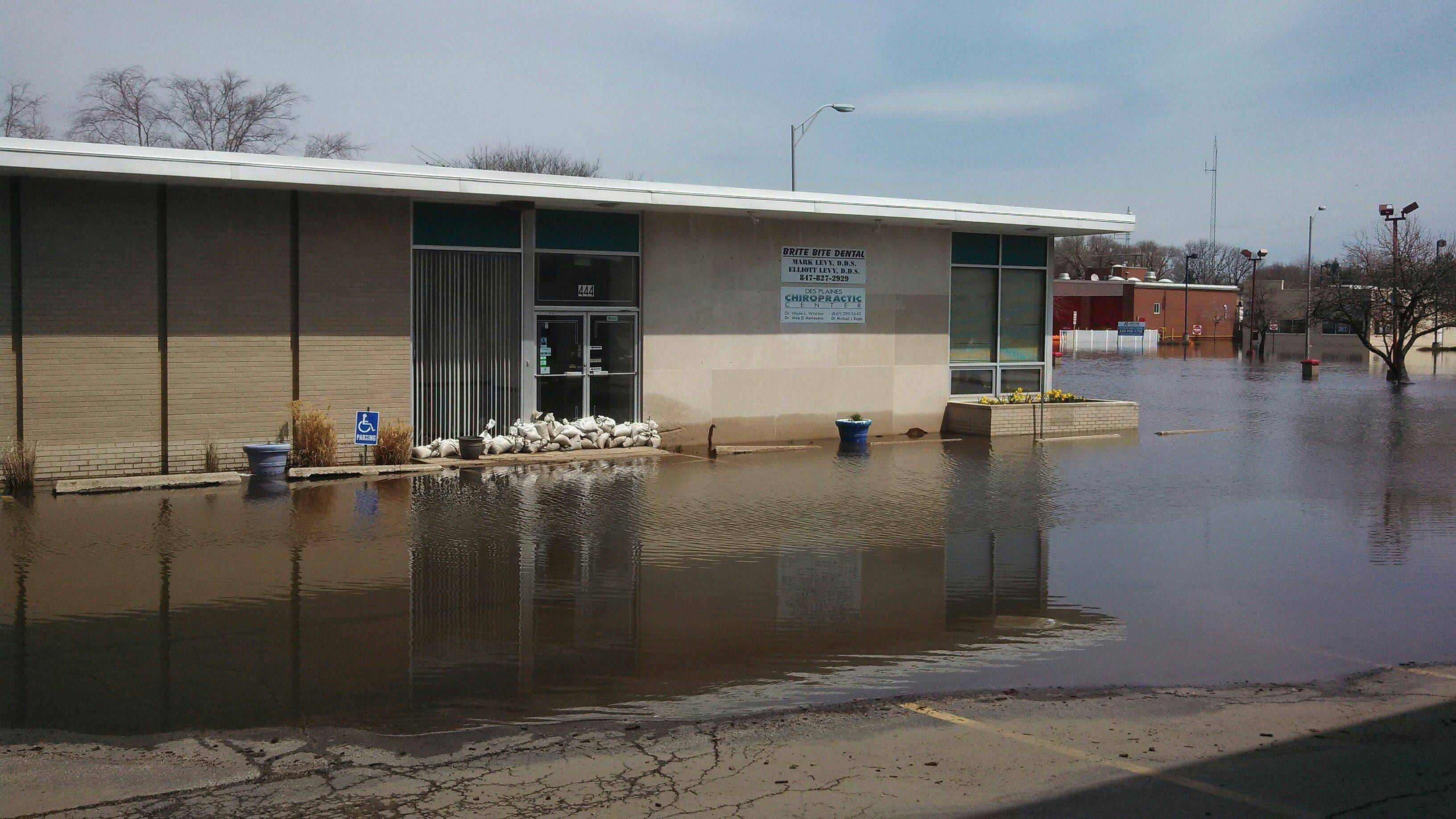 This is the flooded office of the Des Plaines Chiropractic Center at 444 Lee St. in Des Plaines in 2013.
