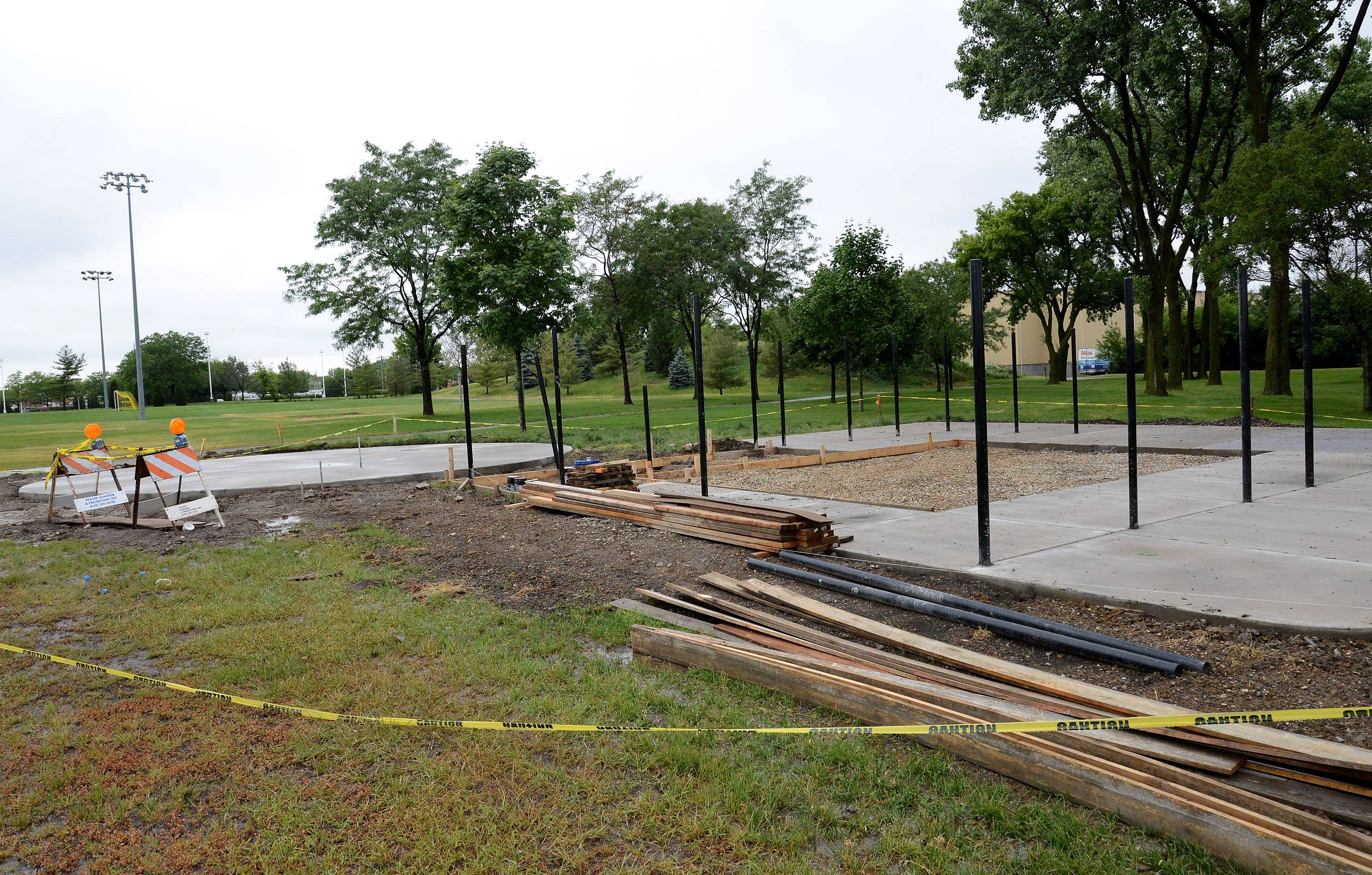 Officials say they're confident 99 percent of construction on the new dog park coming to Melas Park in Mount Prospect will be complete in time for a June 21 grand opening. The park is a joint project between the Arlington Heights and Mount Prospect park districts.