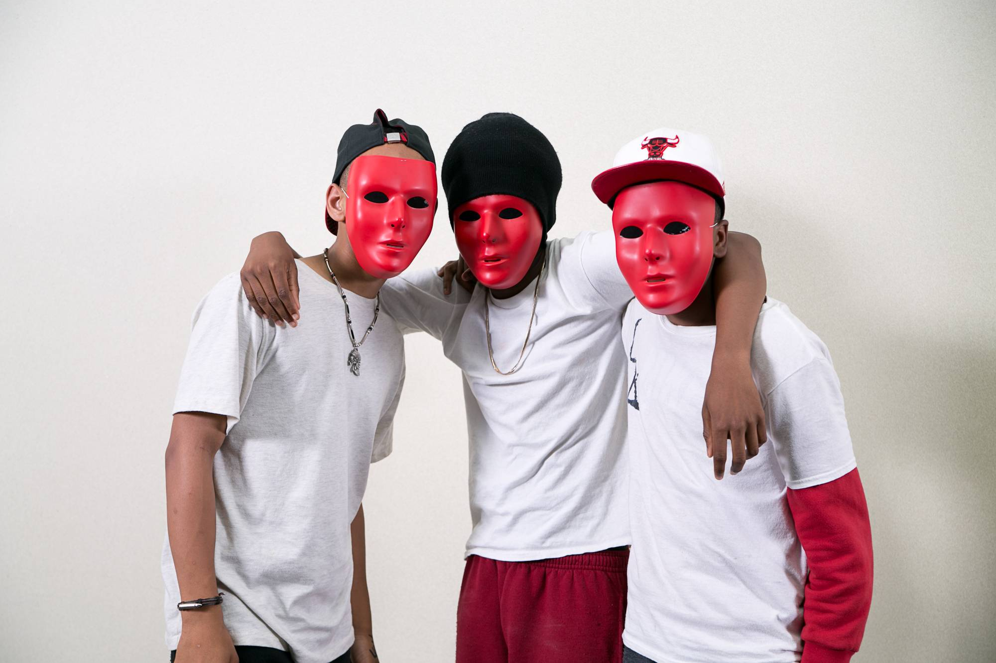 Sean Adams of Hanover Park, Vernon Davis of Streamwood and Armond Mayberry of Hanover Park make up Mysterious Krew.