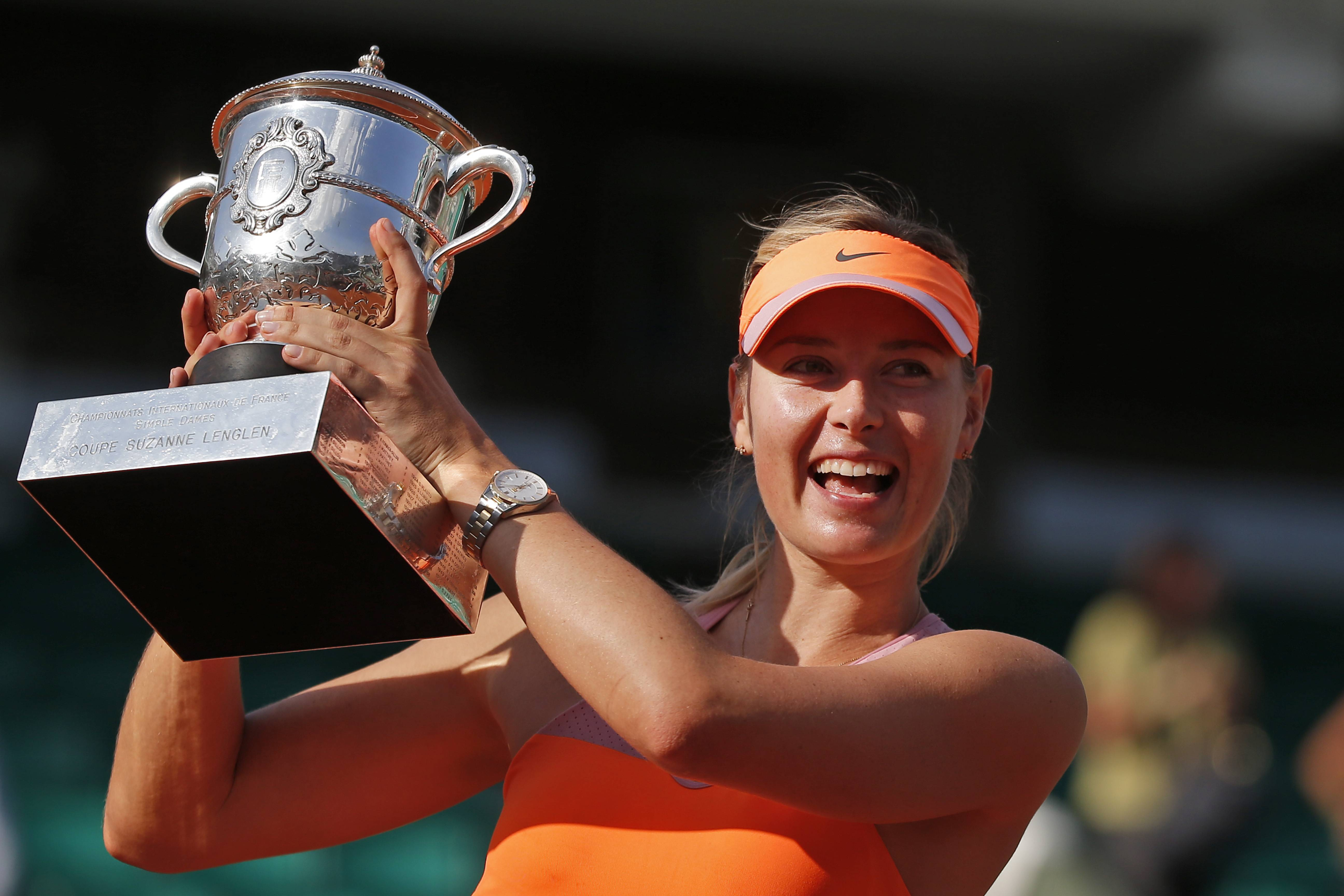 Russia's Maria Sharapova, who recently won the French Open tennis tournament, will launch a new perfume with Avon Luck.