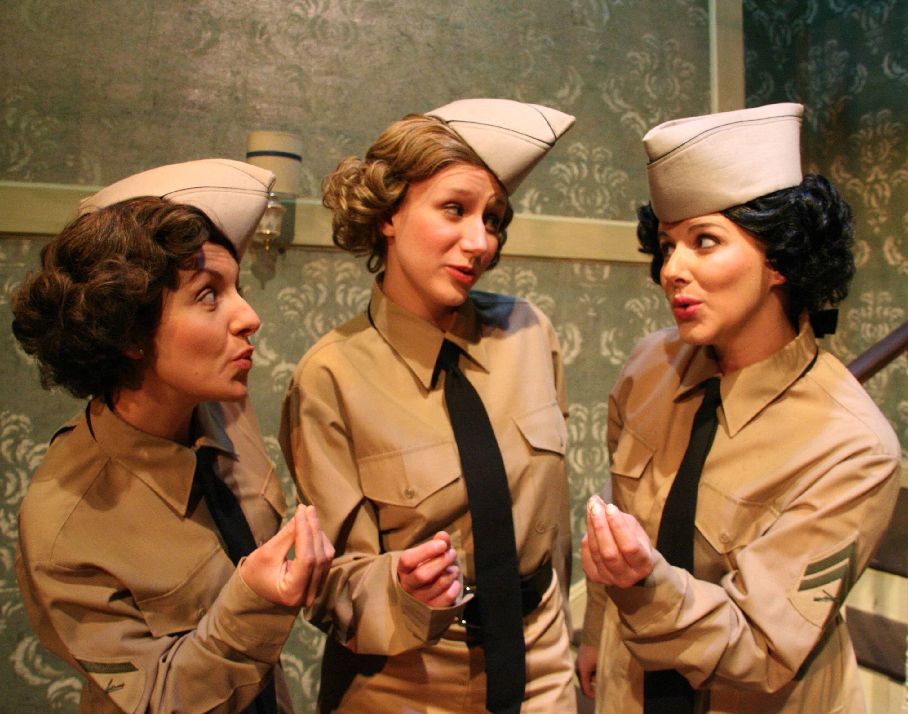 "Kellie Cundiff, left, Brittany Stock and Carol Rose star in ""Sisters of Swing,"" a Fox Valley Repertory tribute to the Andrews Sisters."