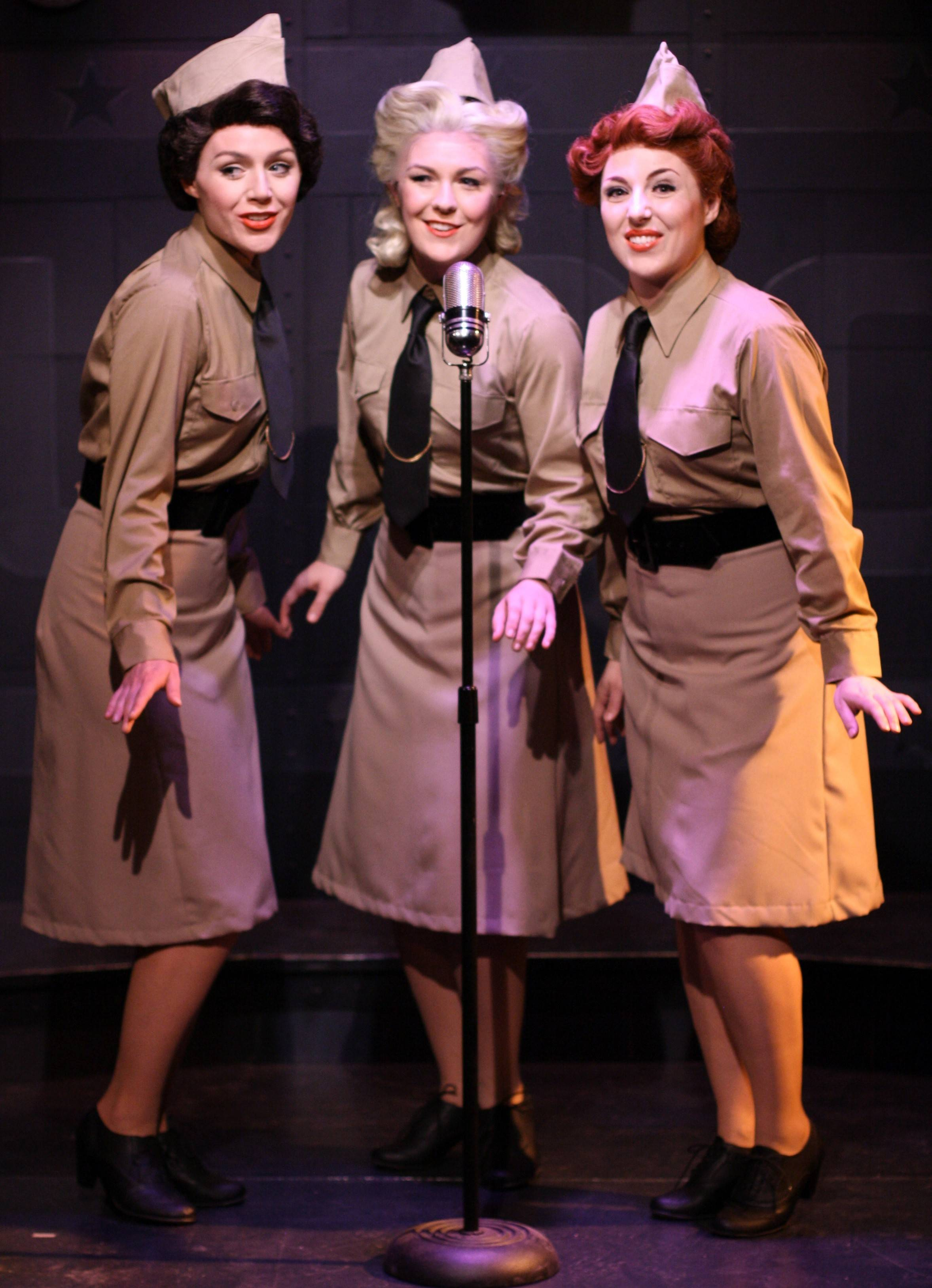 "Jordan Yentz, Sarah Larson and Casi Maggio star in Theo Ubique Cabaret Theatre's ""A Musical Tribute to the Andrews Sisters,"" which runs through Sunday, July 27."