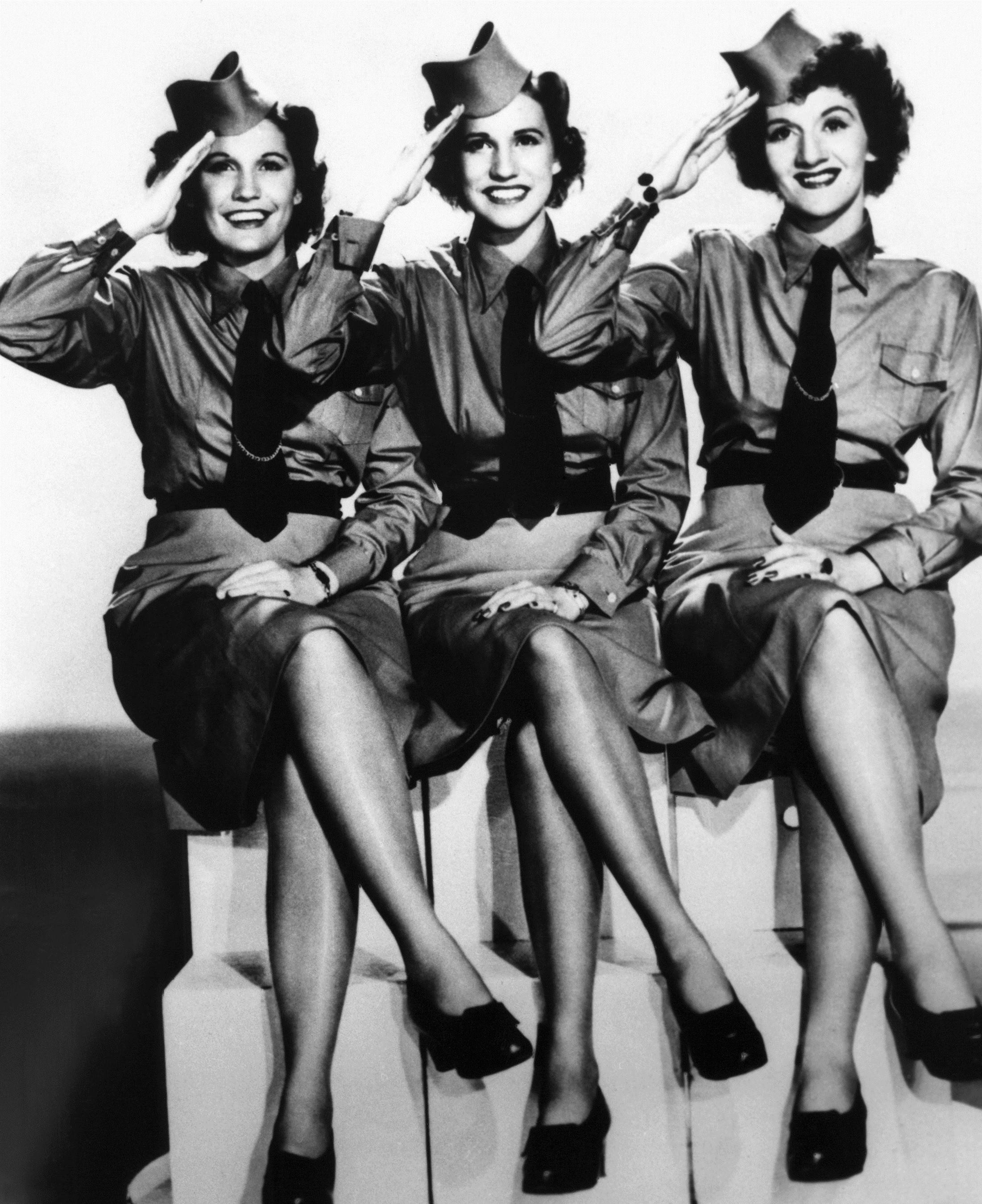 In the 1940s, Maxene, Patty and LaVerne Andrews were popular entertainers.