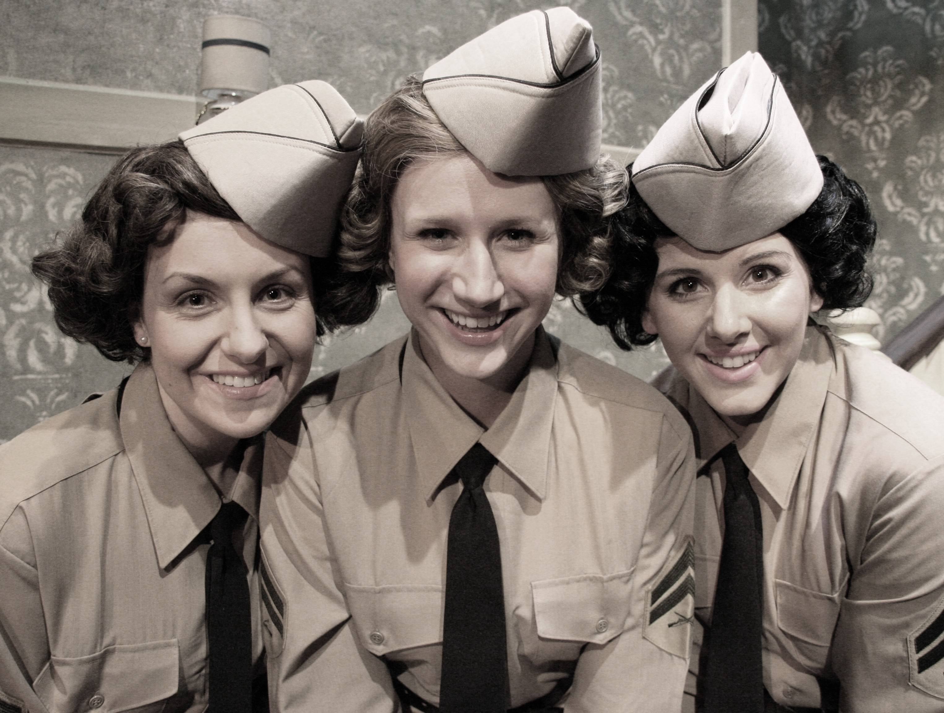 "Kellie Cundiff, left, Brittany Stock and Carol Rose star in Fox Valley Repertory's Andrews Sisters musical revue ""Sisters of Swing,"" which runs through Sunday, July 27."